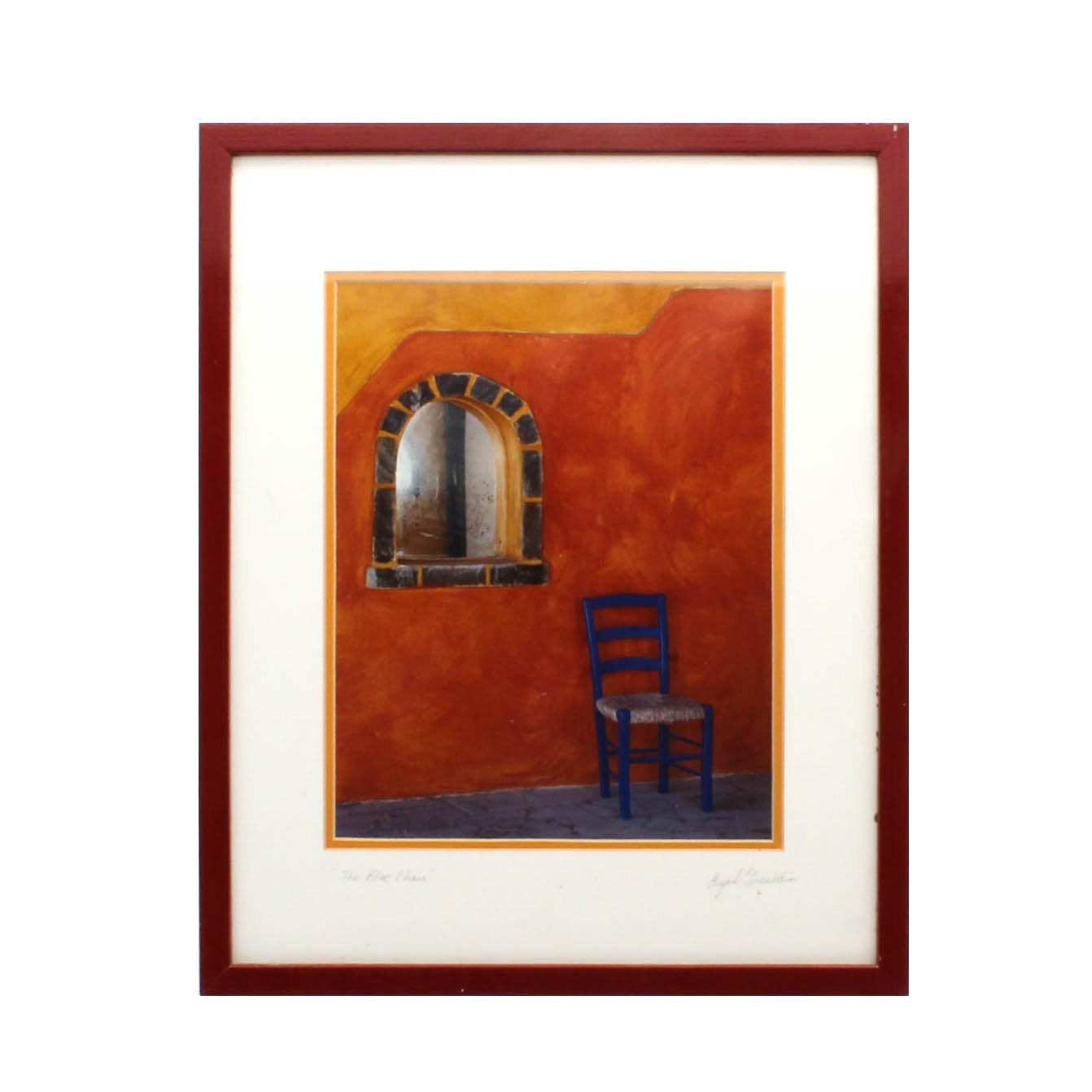 "Gorenstein ""The Blue Chair"" Photograph"
