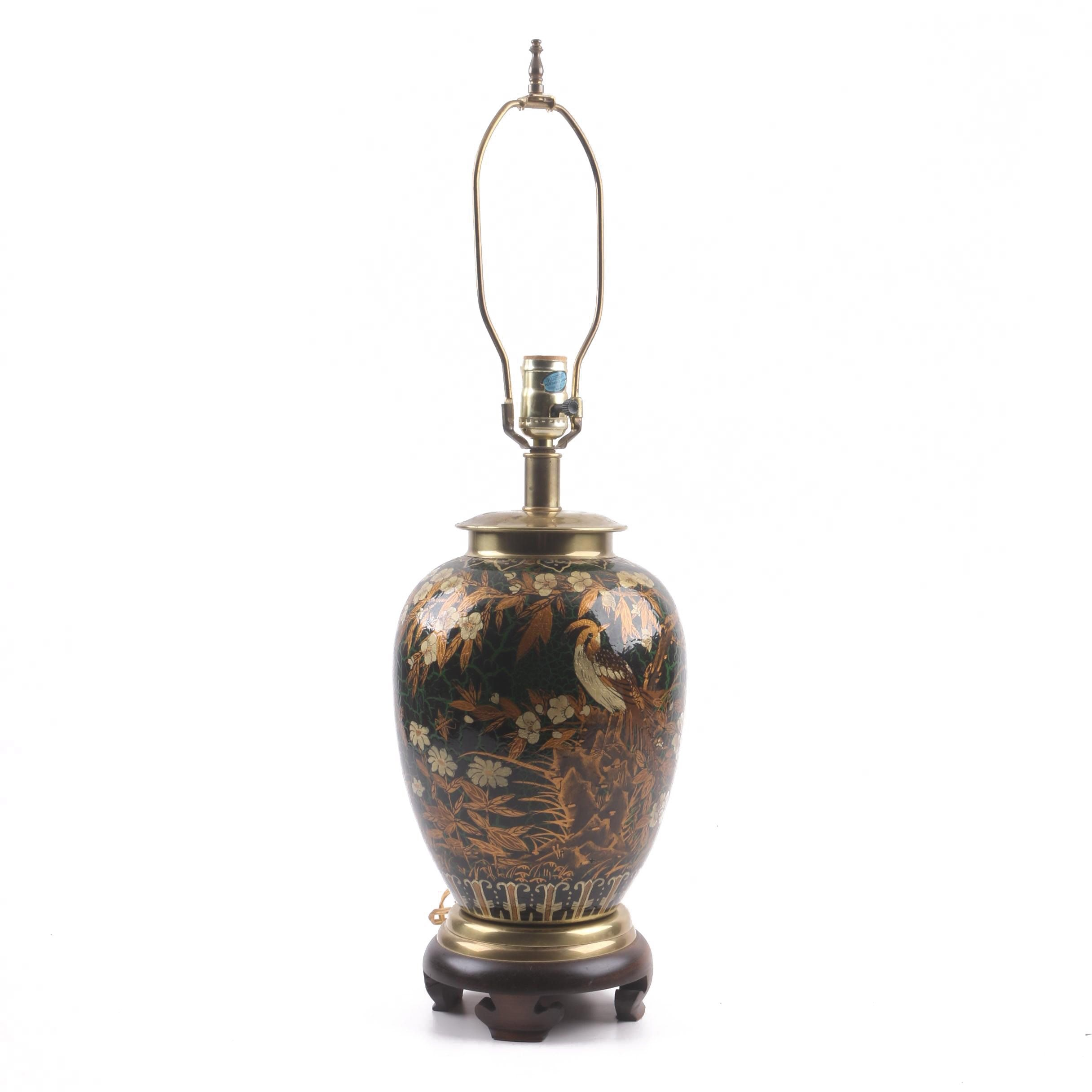 Decorative Chinoiserie Ceramic Table Lamp