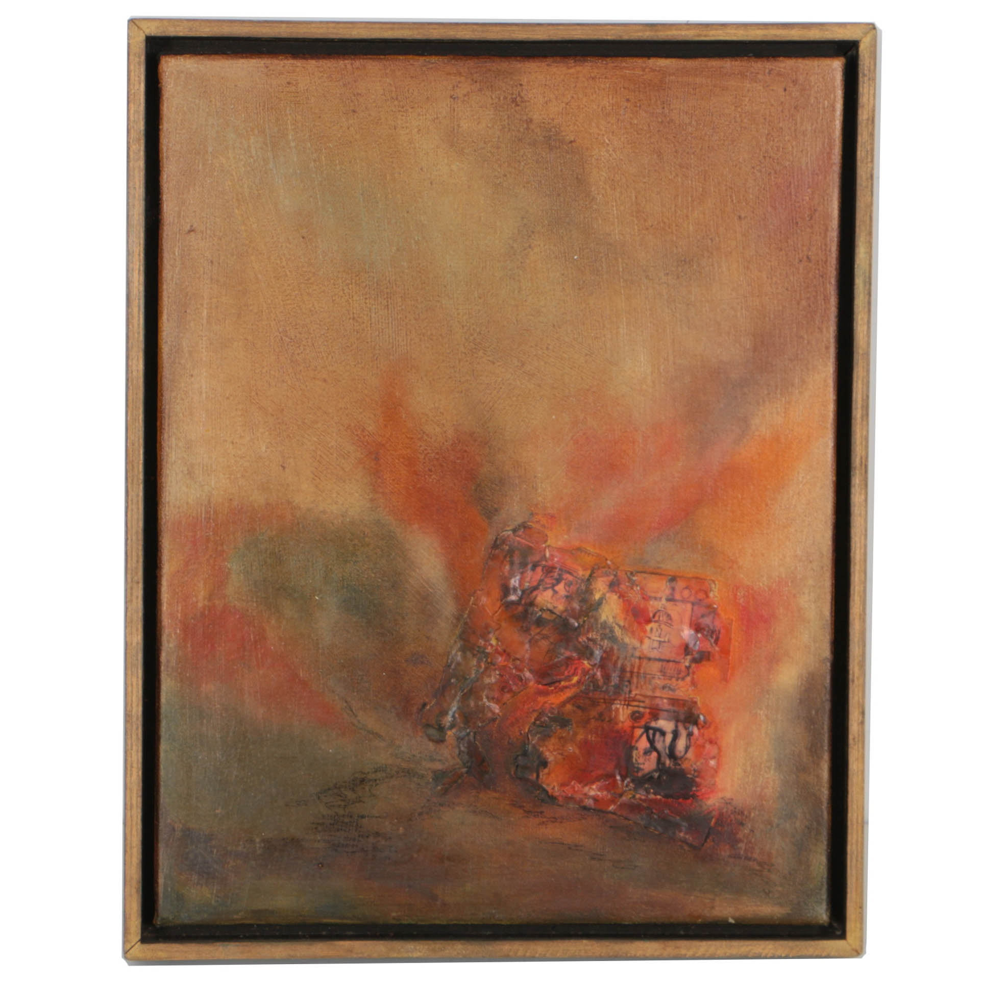 """Mary LaCaff Mixed Media Painting """"Rivers Burning"""""""