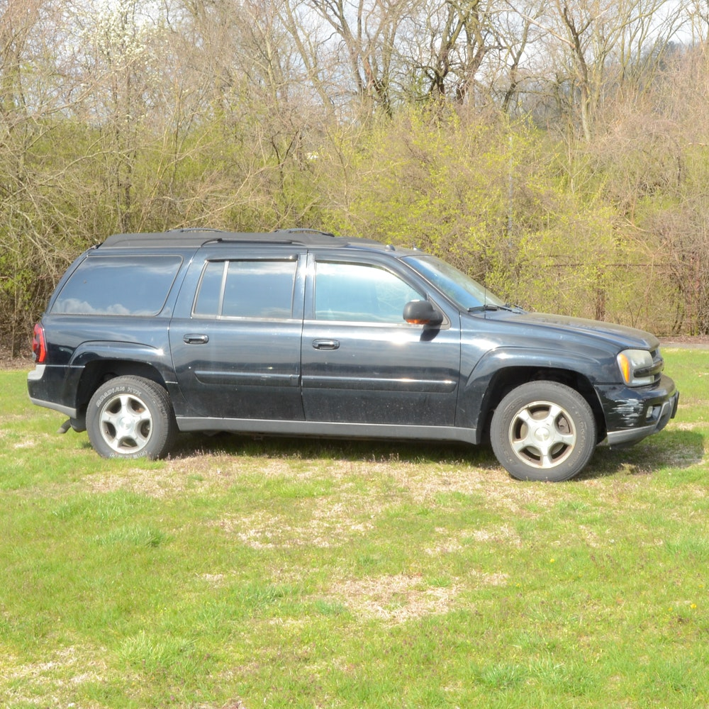 2005 Black Chevrolet TrailBlazer LS 4WD