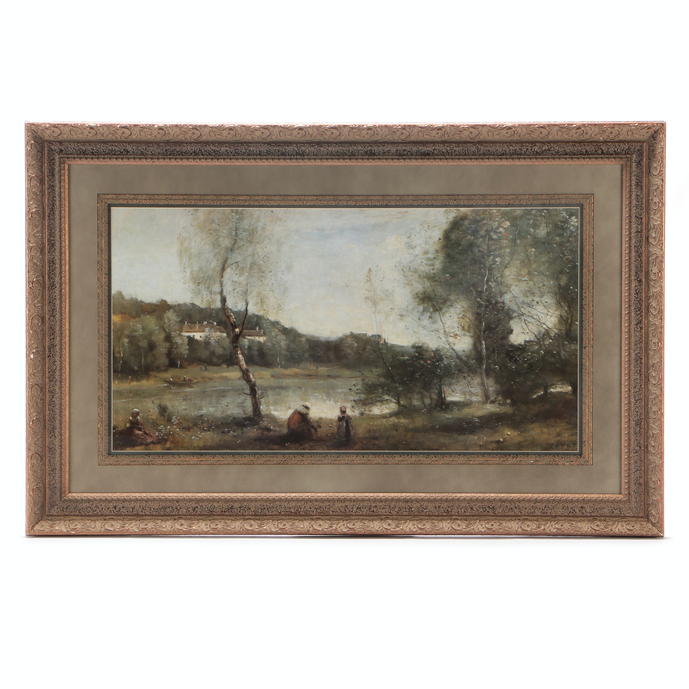 "Offset Lithograph after Jean-Baptiste-Camille Corot ""Pond Ville d'Avray"""