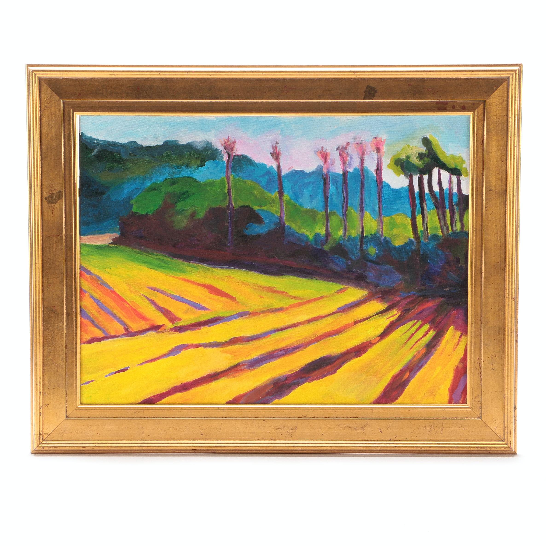 Original Acrylic Landscape on Canvas Board