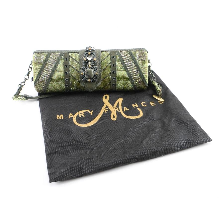 Mary Frances of San Francisco Green Beaded Embellished Evening Bag