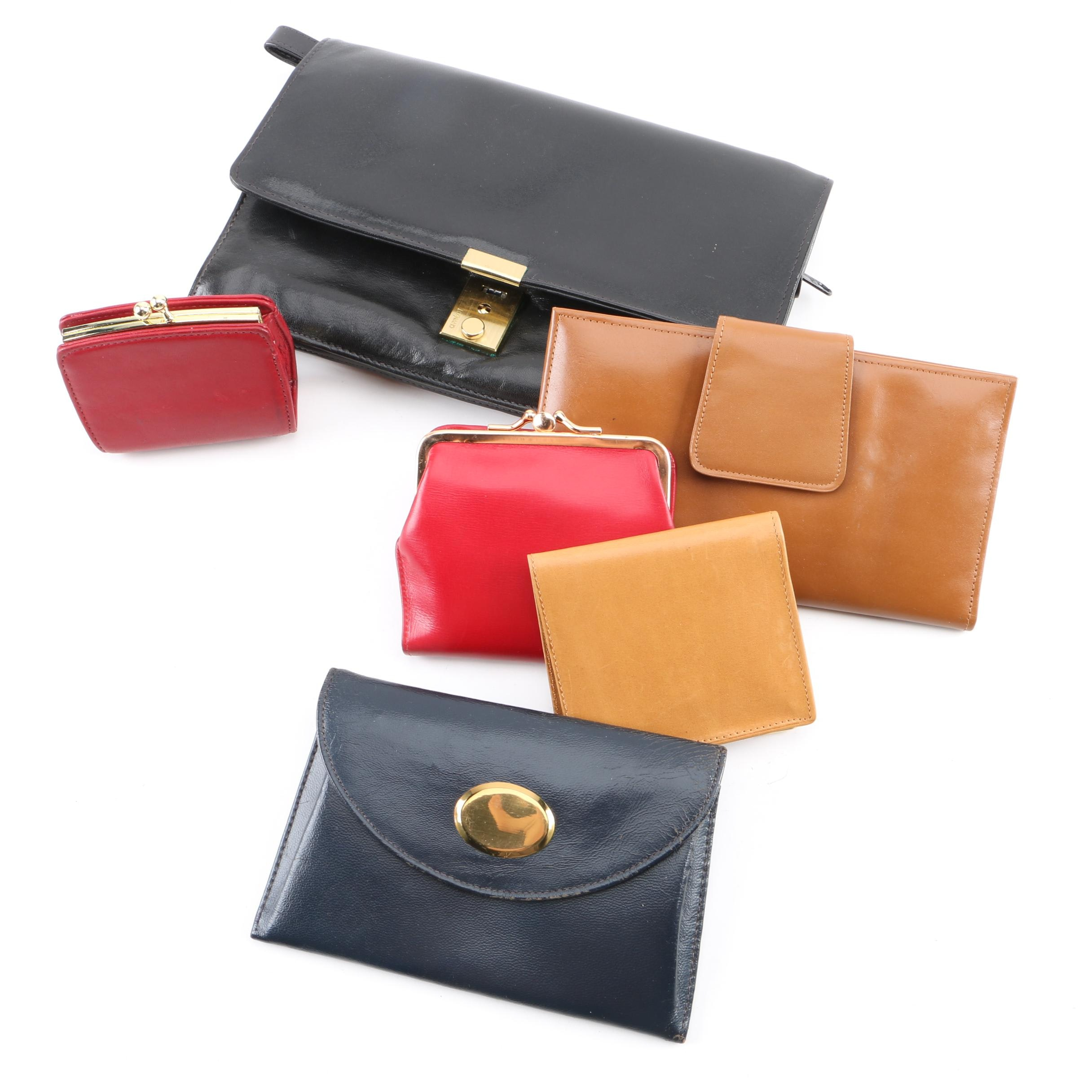 Vintage Leather Wallets Including Cartier, Dunhill, Coach and Buxton