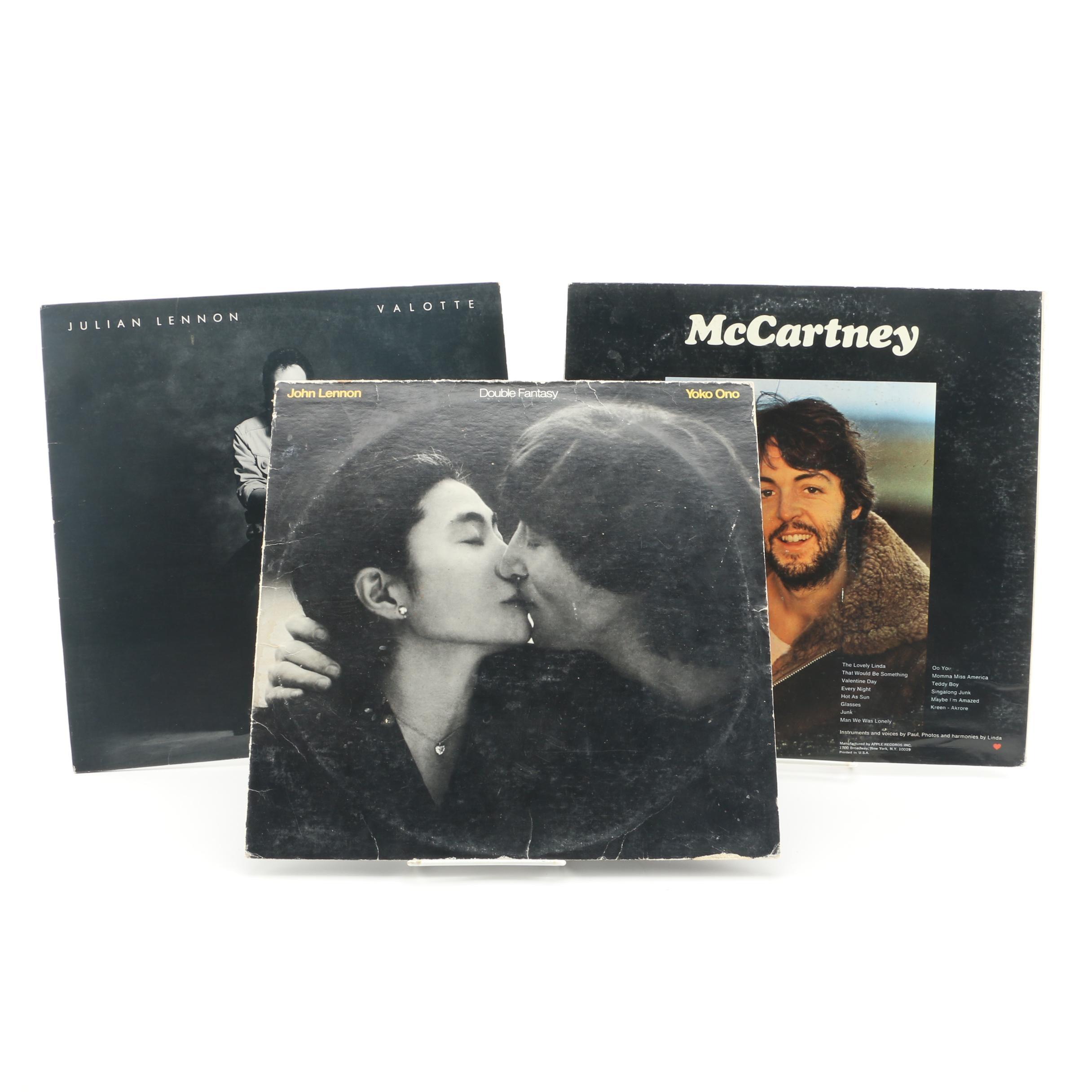 Paul McCartney, John Lennon and Julian Lennon Albums