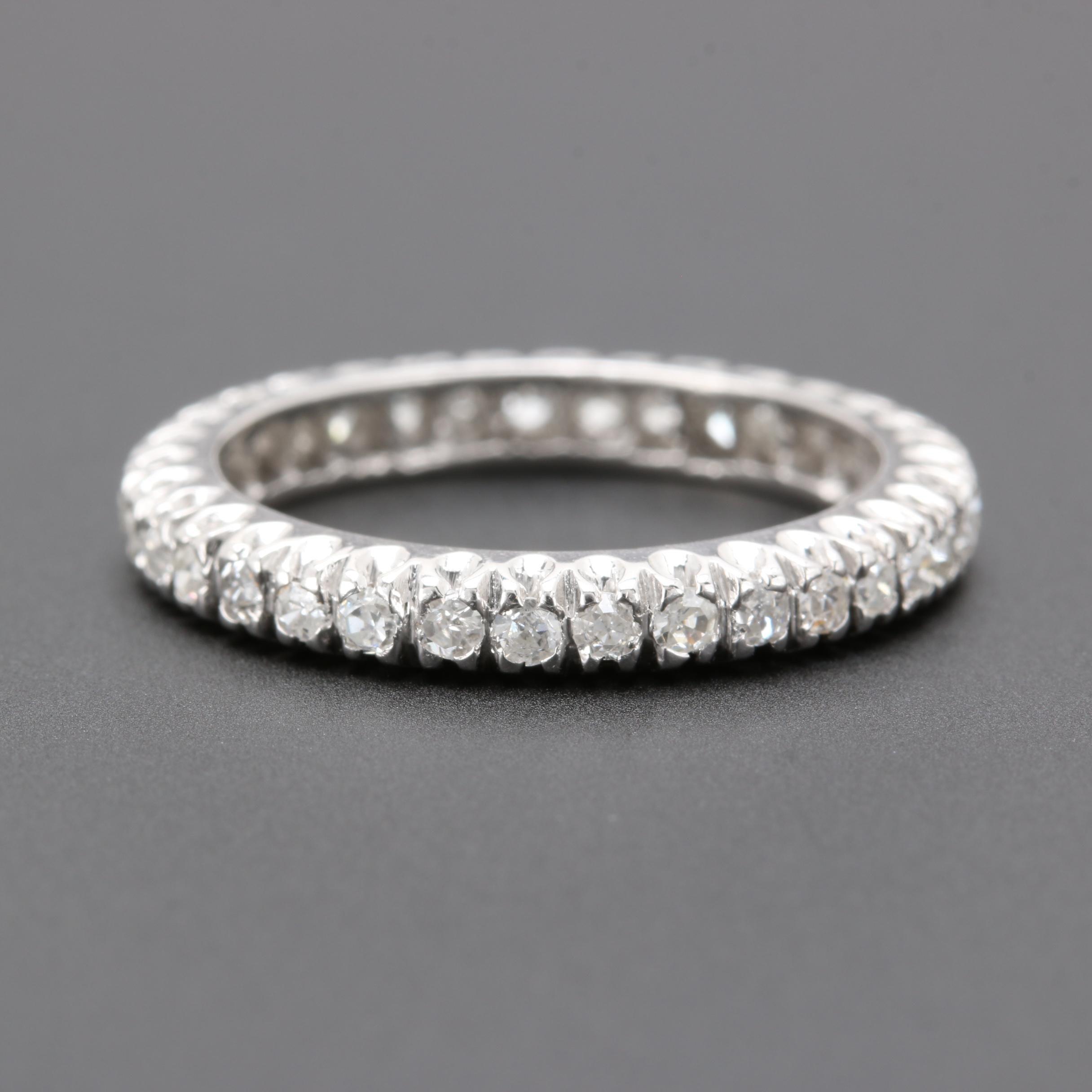 Platinum Diamond Eternity Ring Band
