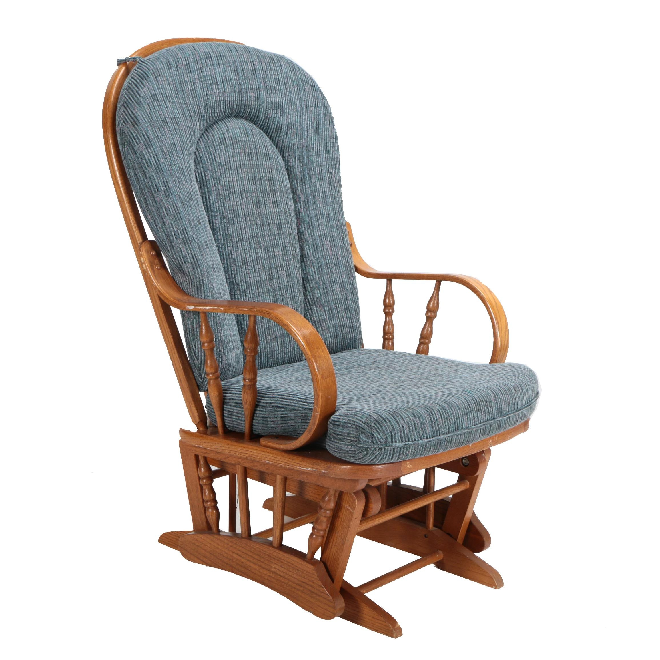 Glider Rocking Chair with Removable Cushions