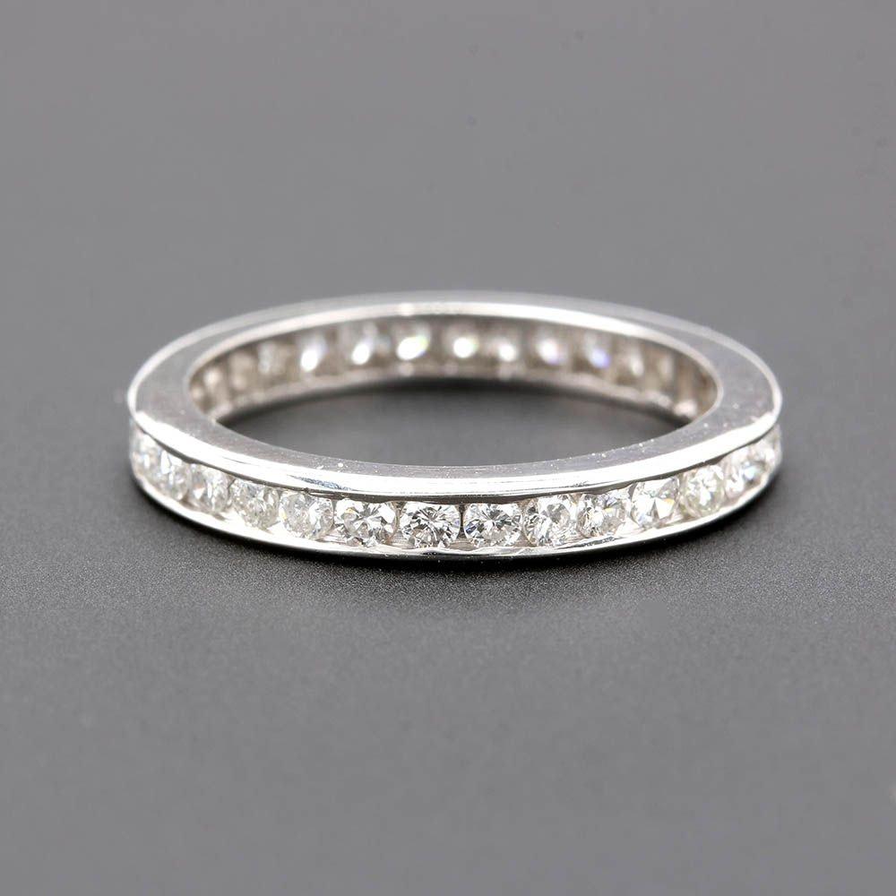 Platinum and Palladium Alloy Diamond Eternity Ring