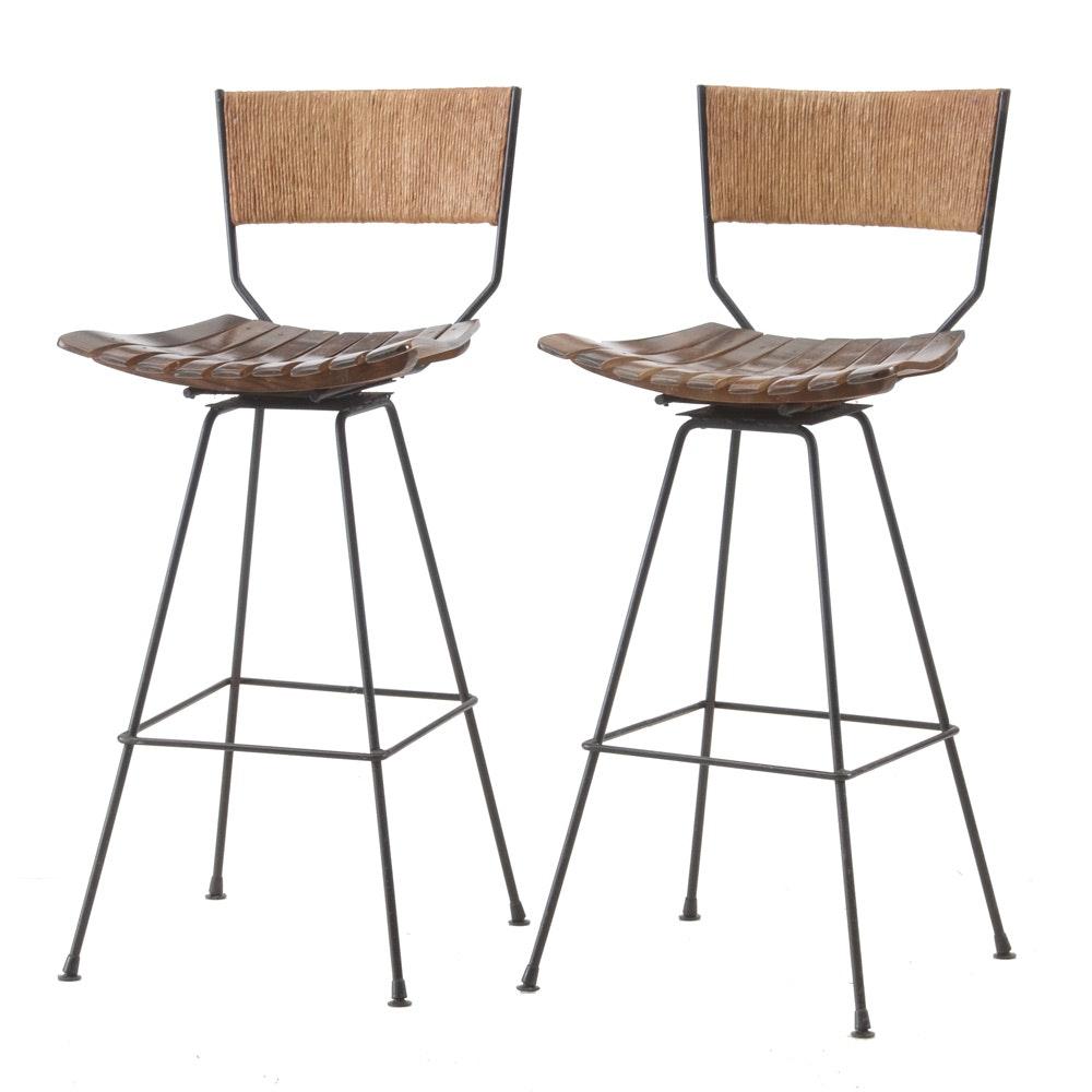 Arthur Umanoff Designed Swivel Bar Stools