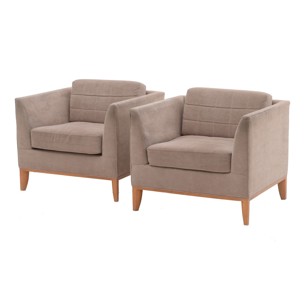 Pair of Bernhardt Club Chairs