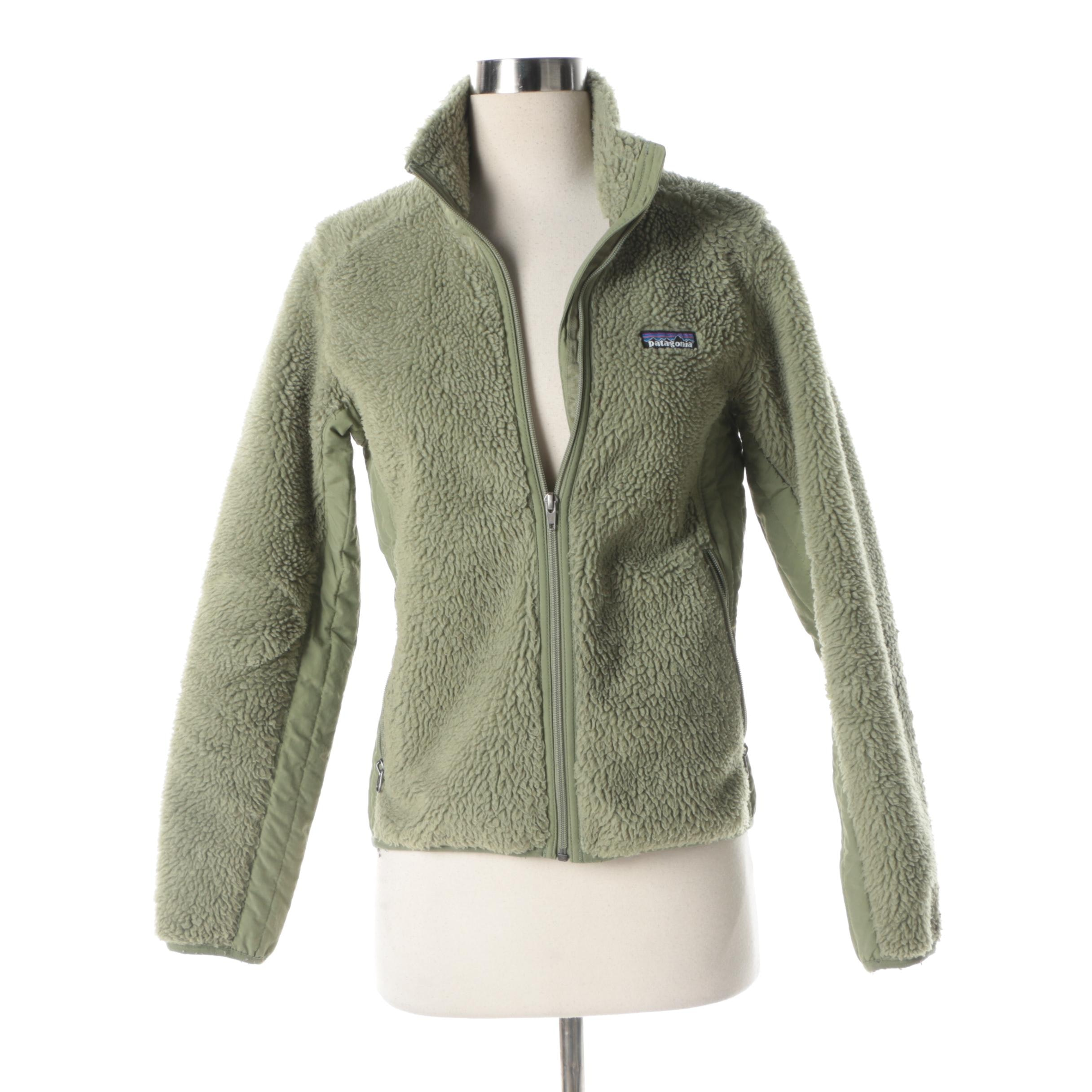 Women's Patagonia Green Polar Fleece Jacket