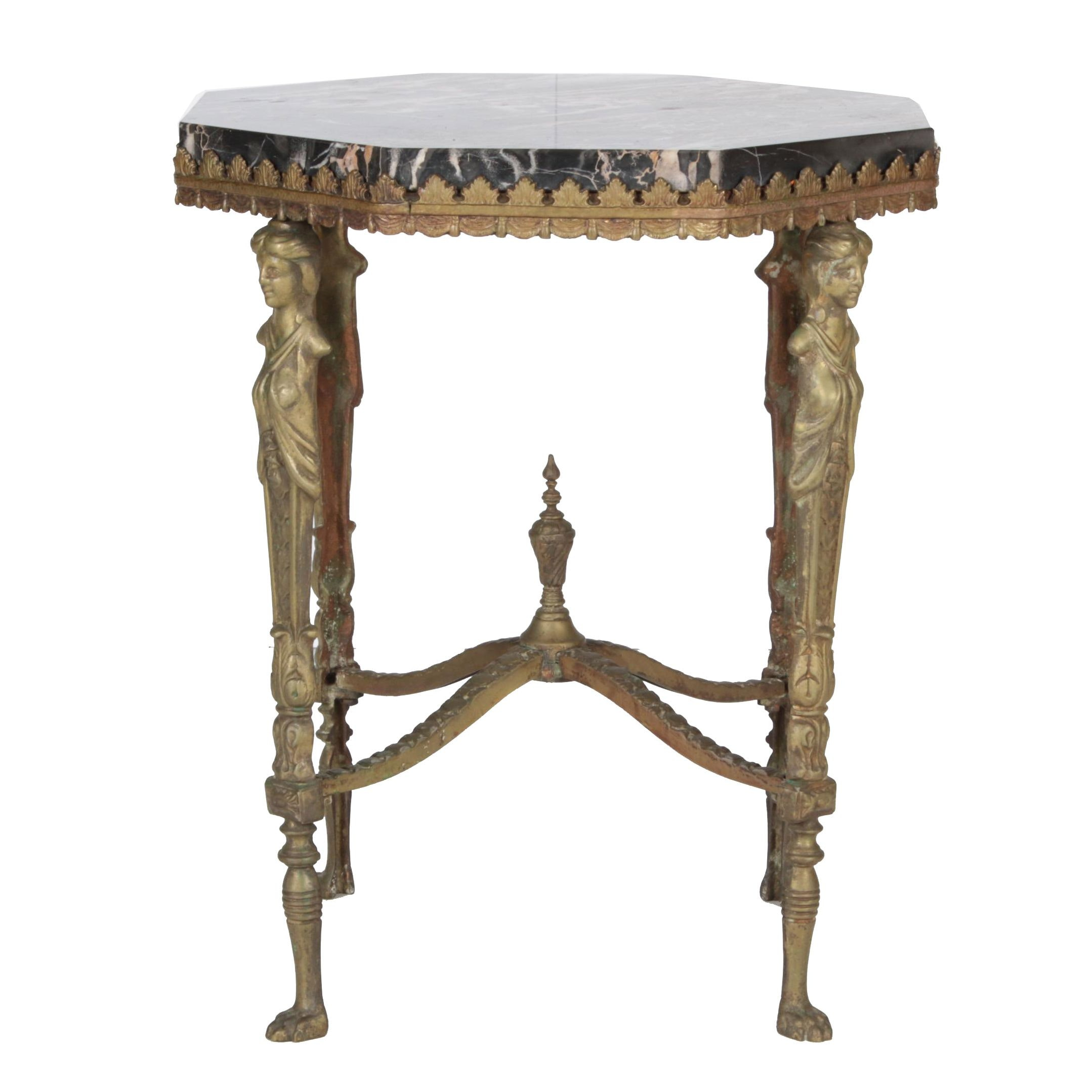 20th Century Italian Neoclassical Style Marble Top Side Table