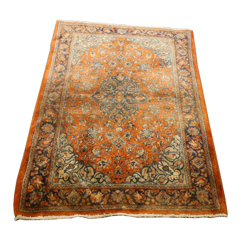 Vintage Persian Hand-Knotted Mallayer Area Rug