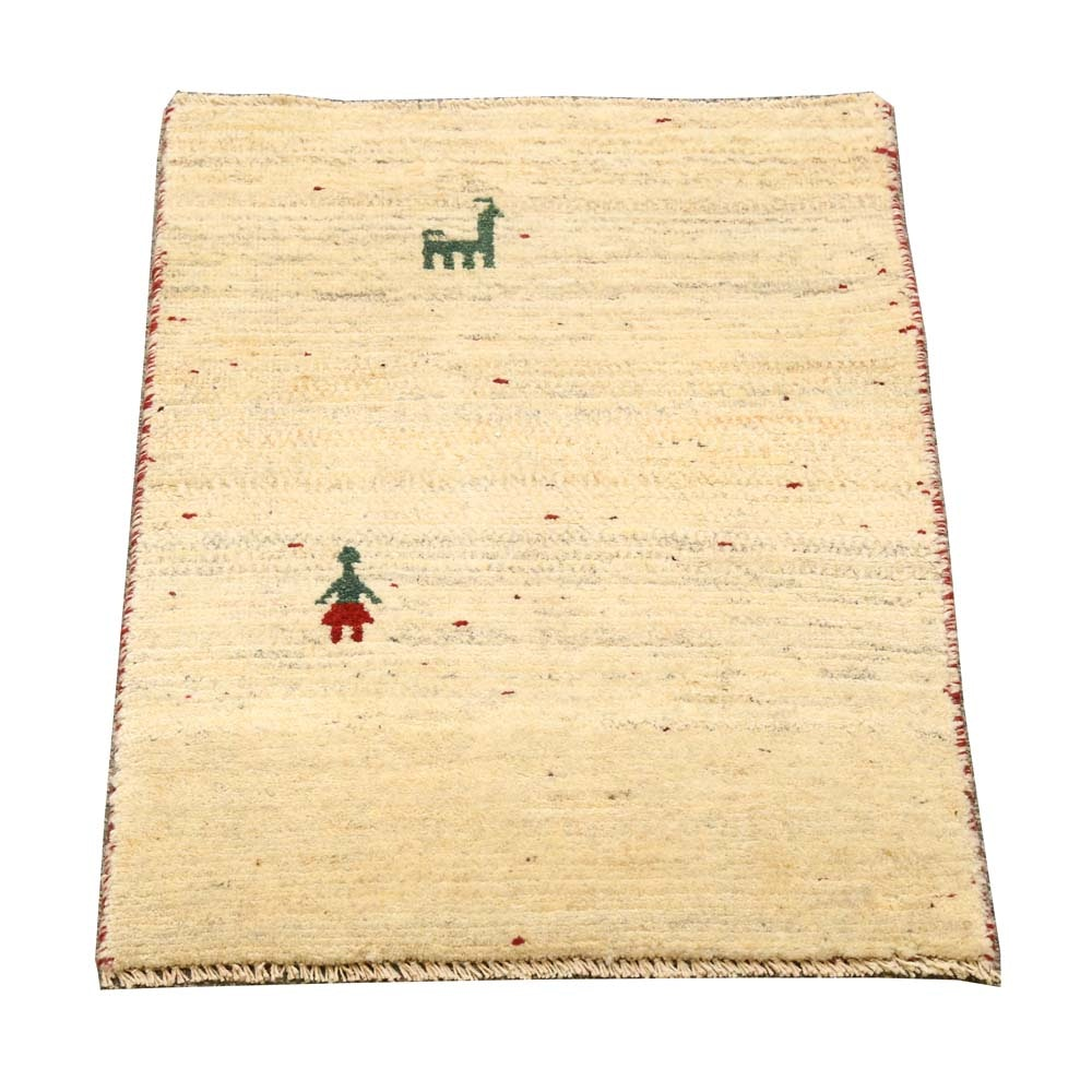 Hand-Knotted Gabbeh Accent Rug