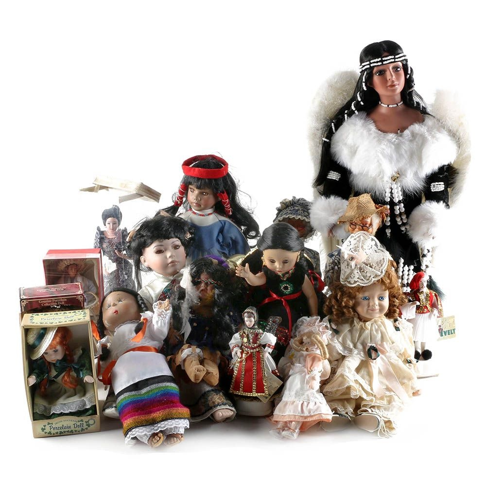 Vintage Porcelain Dolls Including Kultura and Muñeca Eny