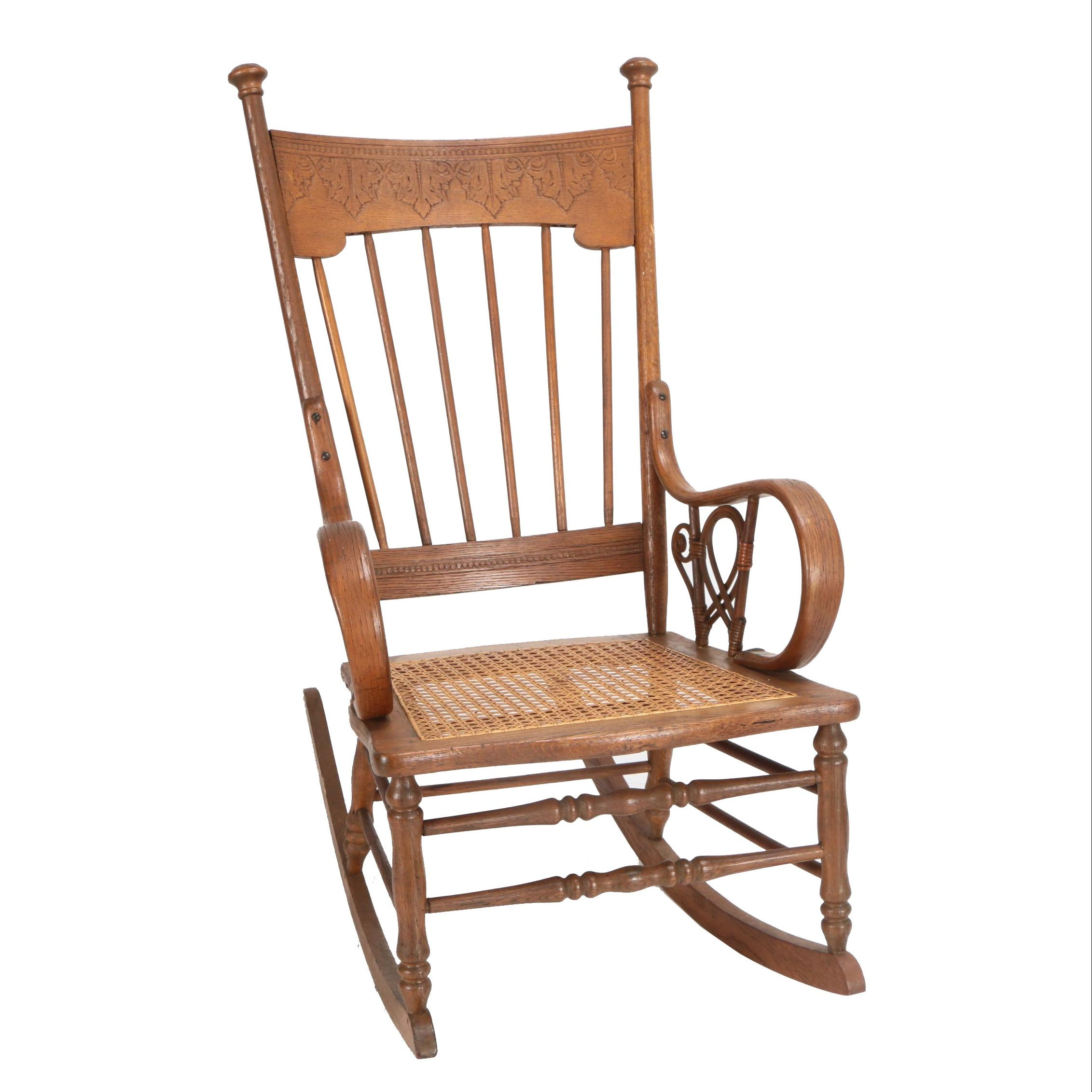Press Back Rocking Chair with Bentwood Accents