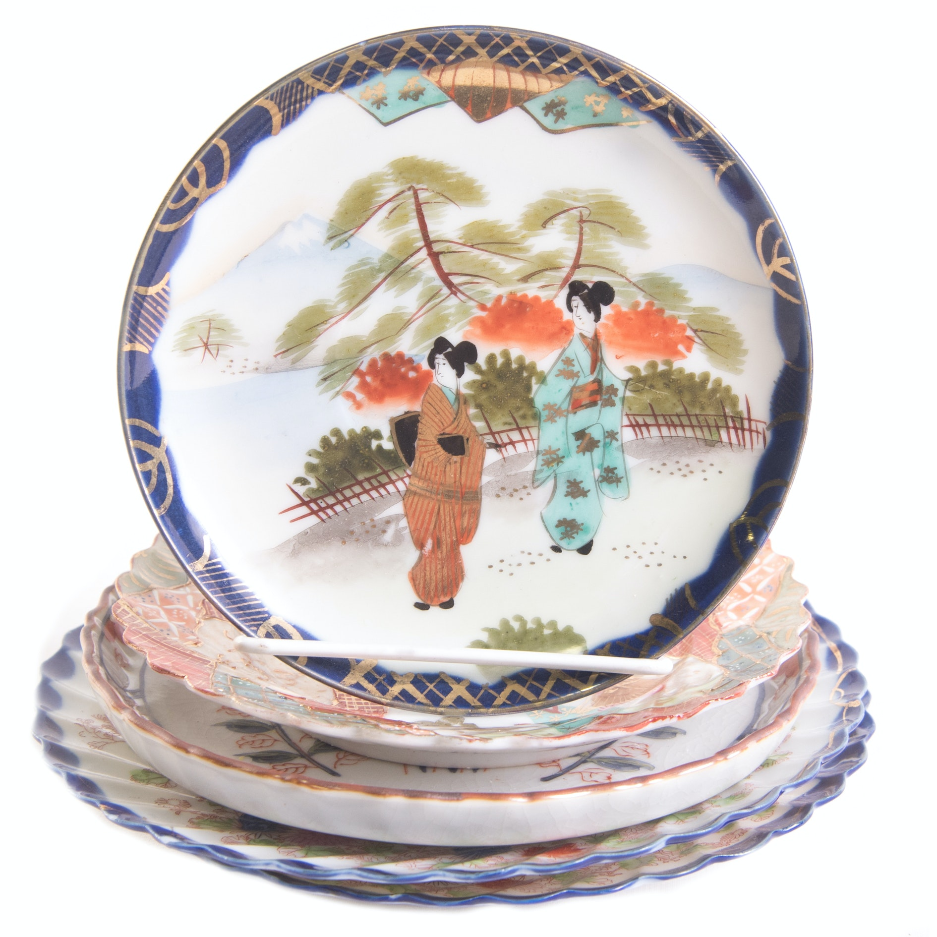 Decorative Japanese Hand Painted Porcelain Plates