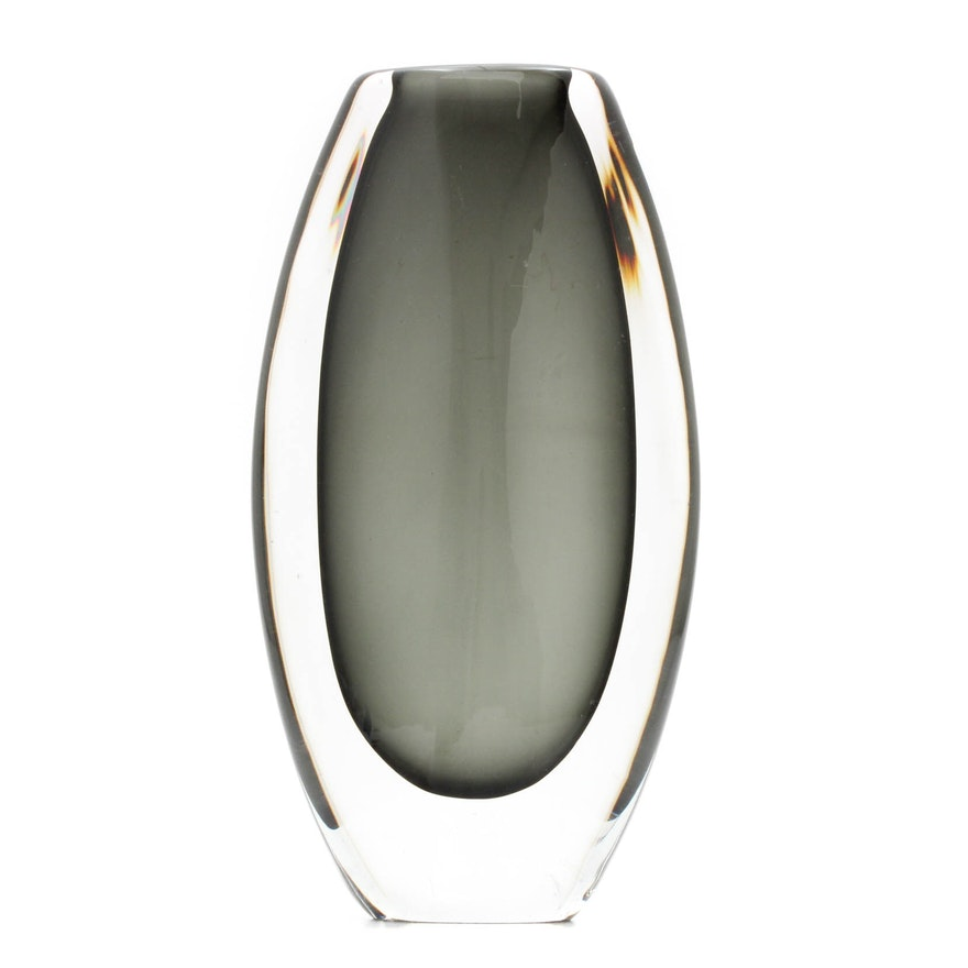 Orrefors Signed Crystal Vase Ebth