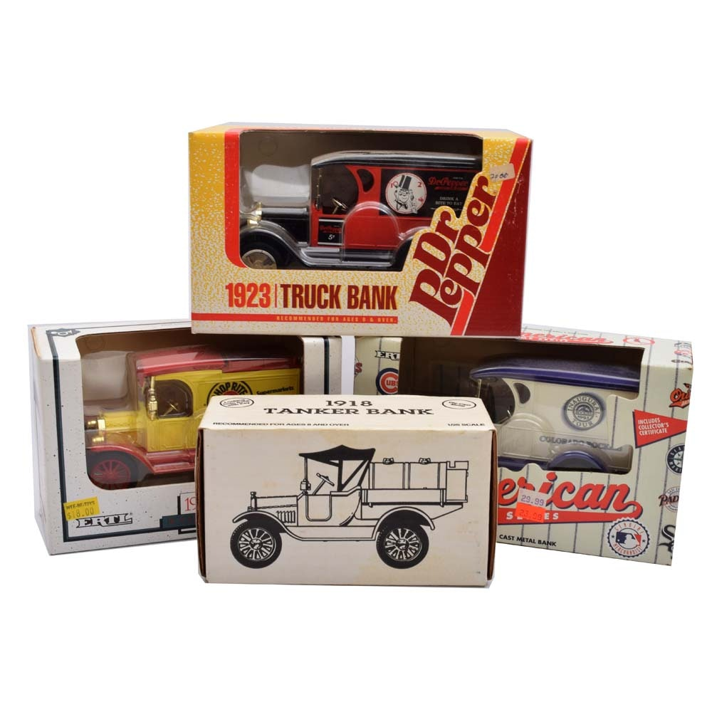 A Collection of Die-Cast Truck Banks