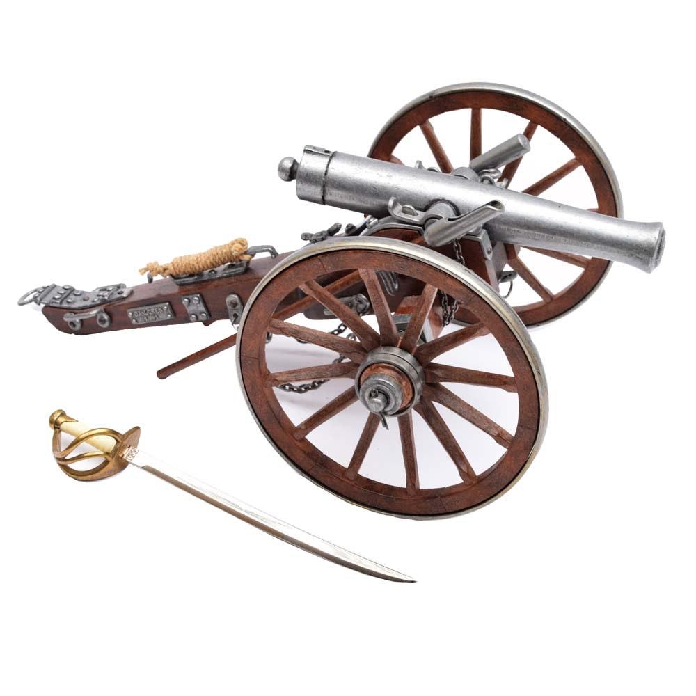 Denix Civil War Cannon USA 1861 and Letter Opener