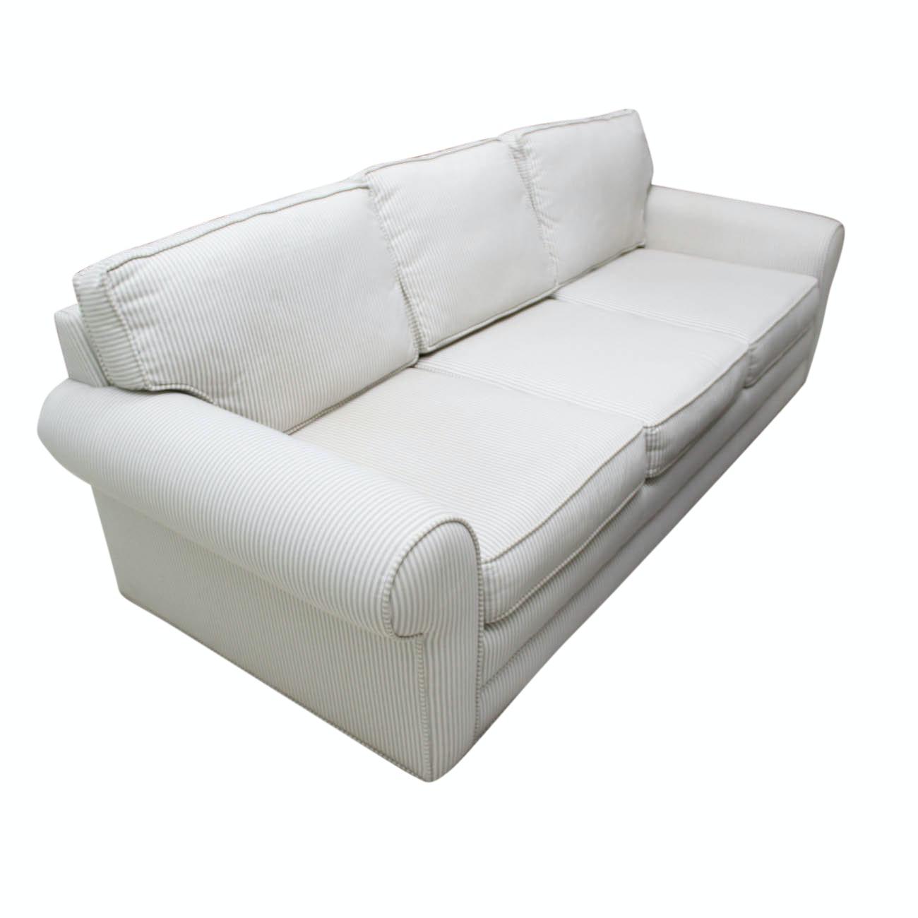 Contemporary Striped Sofa