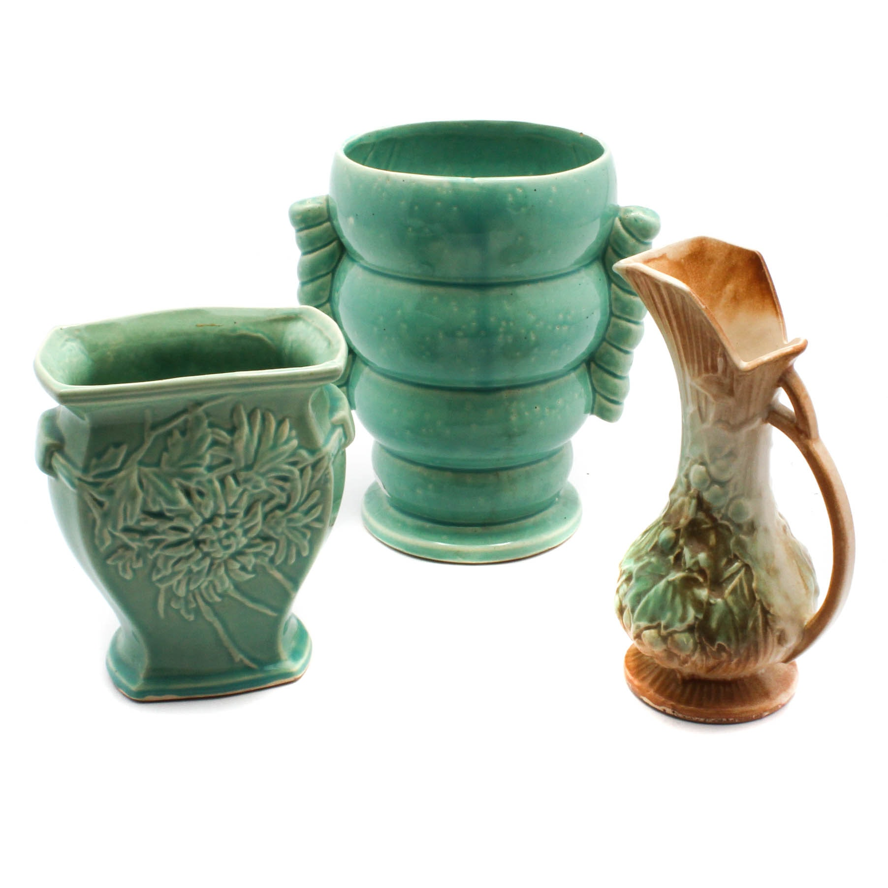 Vintage McCoy Pottery Ewer and Vases