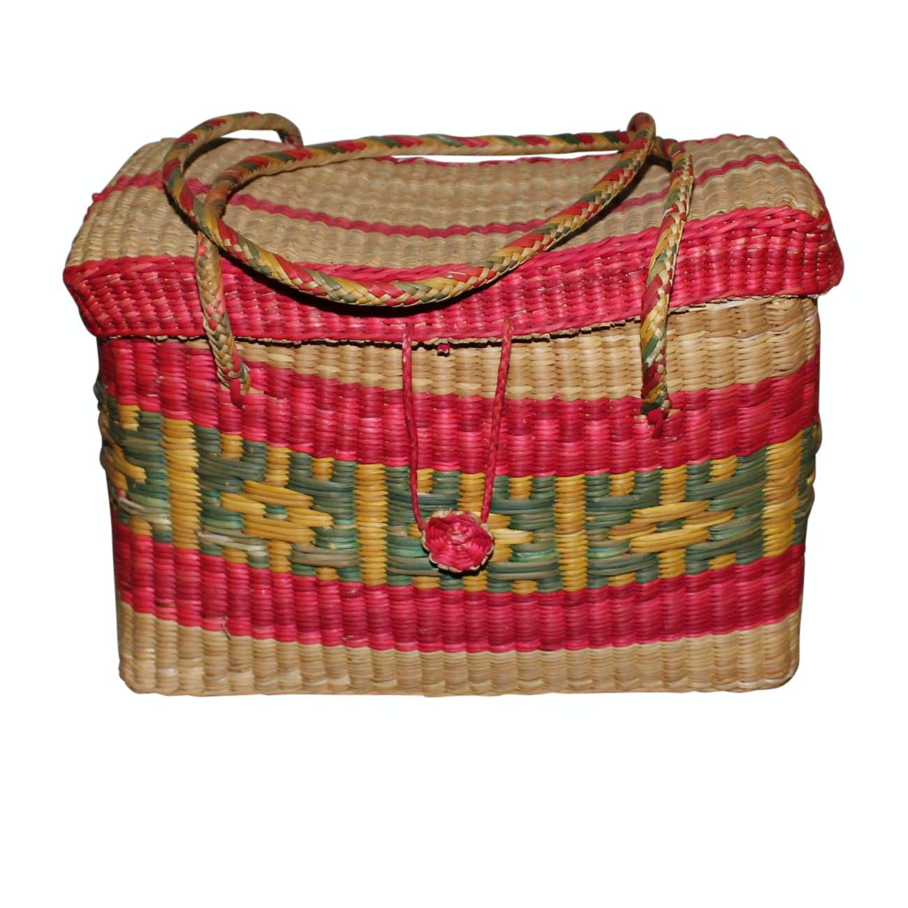 Colorful Handwoven Basket