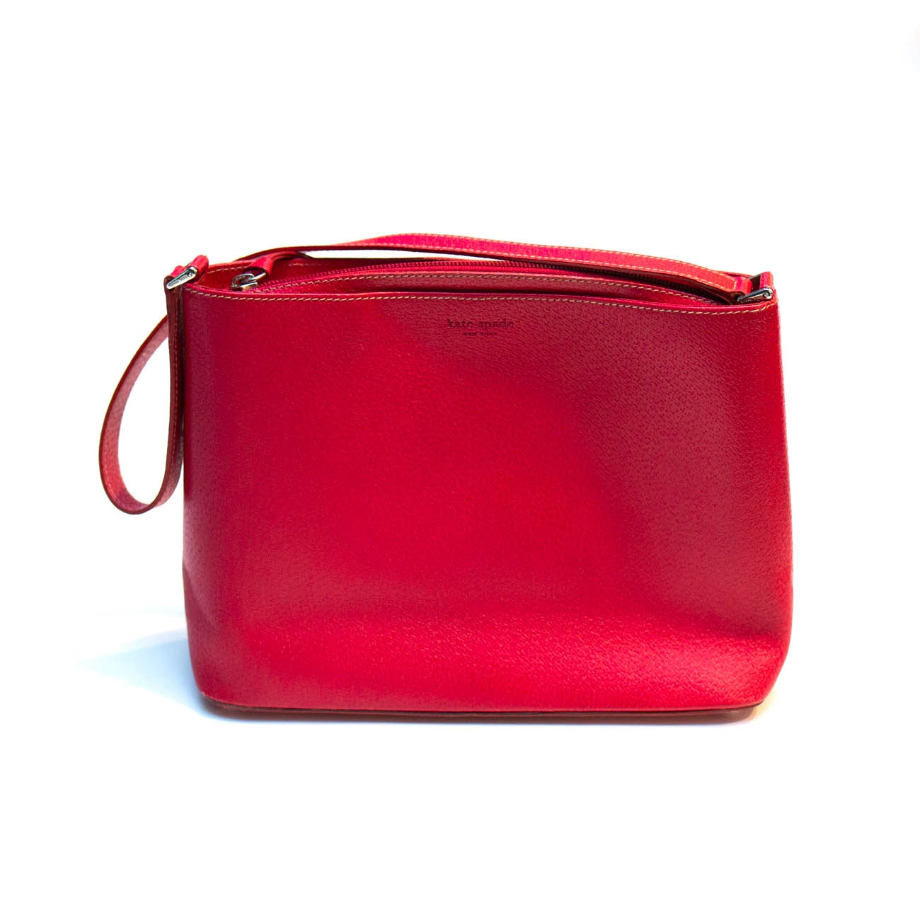Vintage Kate Spade New York Red Leather Handbag