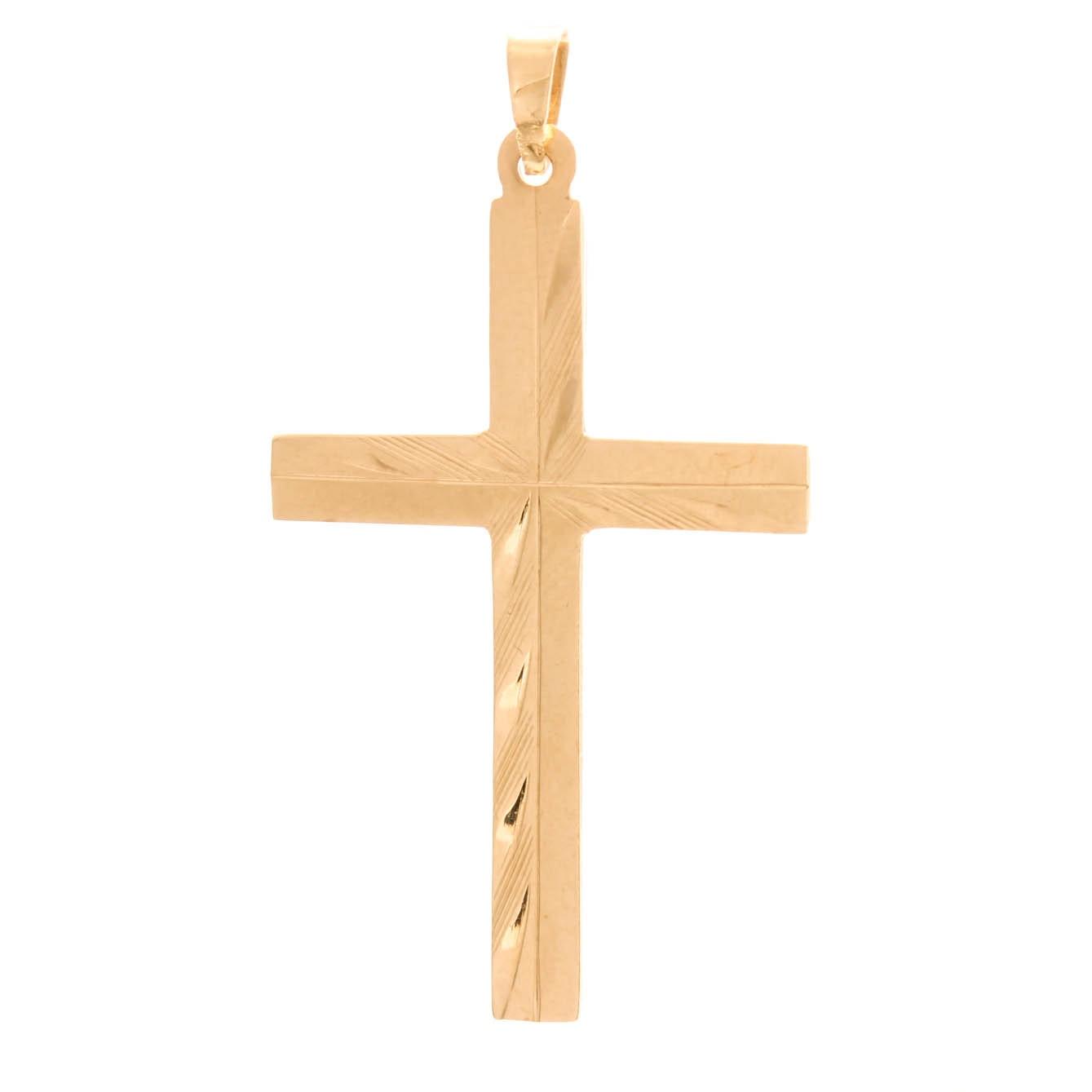 14K Yellow Gold Cross Pendant