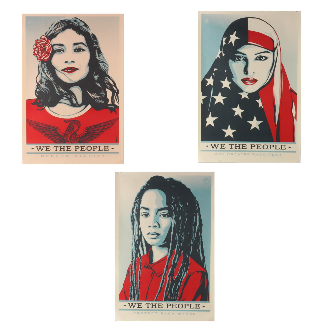 """Shepard Fairey """"We the People"""" Offset Prints"""