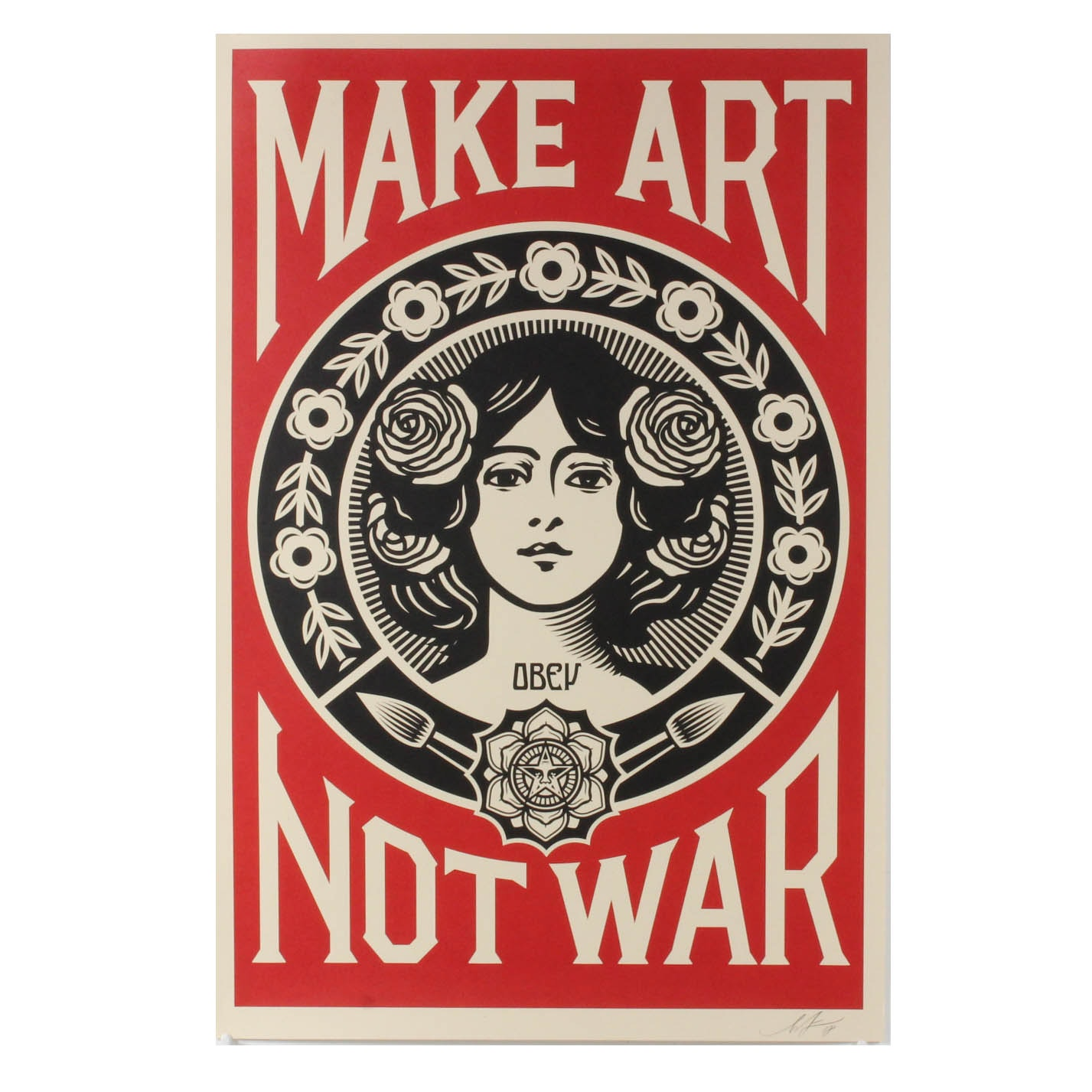 """Shepard Fairey """"Make Art Not War"""" Offset Print"""