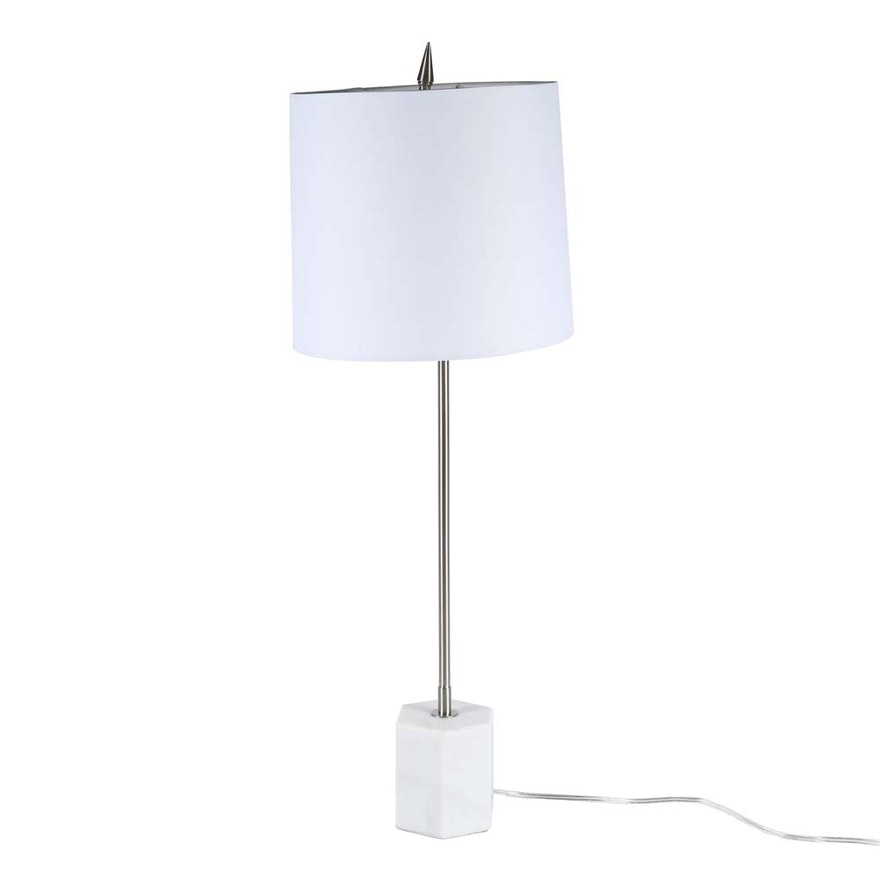 Contemporary marble and stainless steel table lamp ebth contemporary marble and stainless steel table lamp aloadofball Image collections