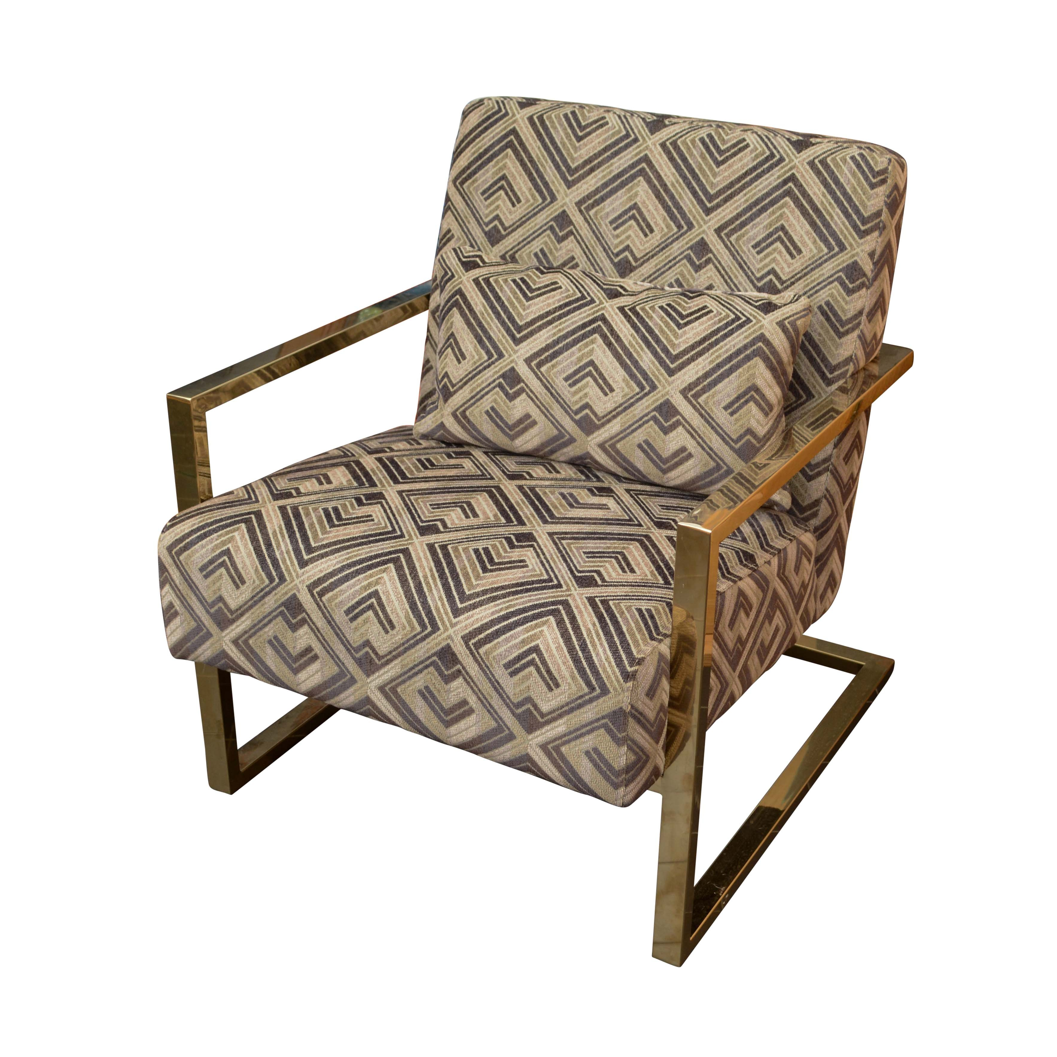 Modern Style Upholstered Armchair by Shanghai Forwell Furniture