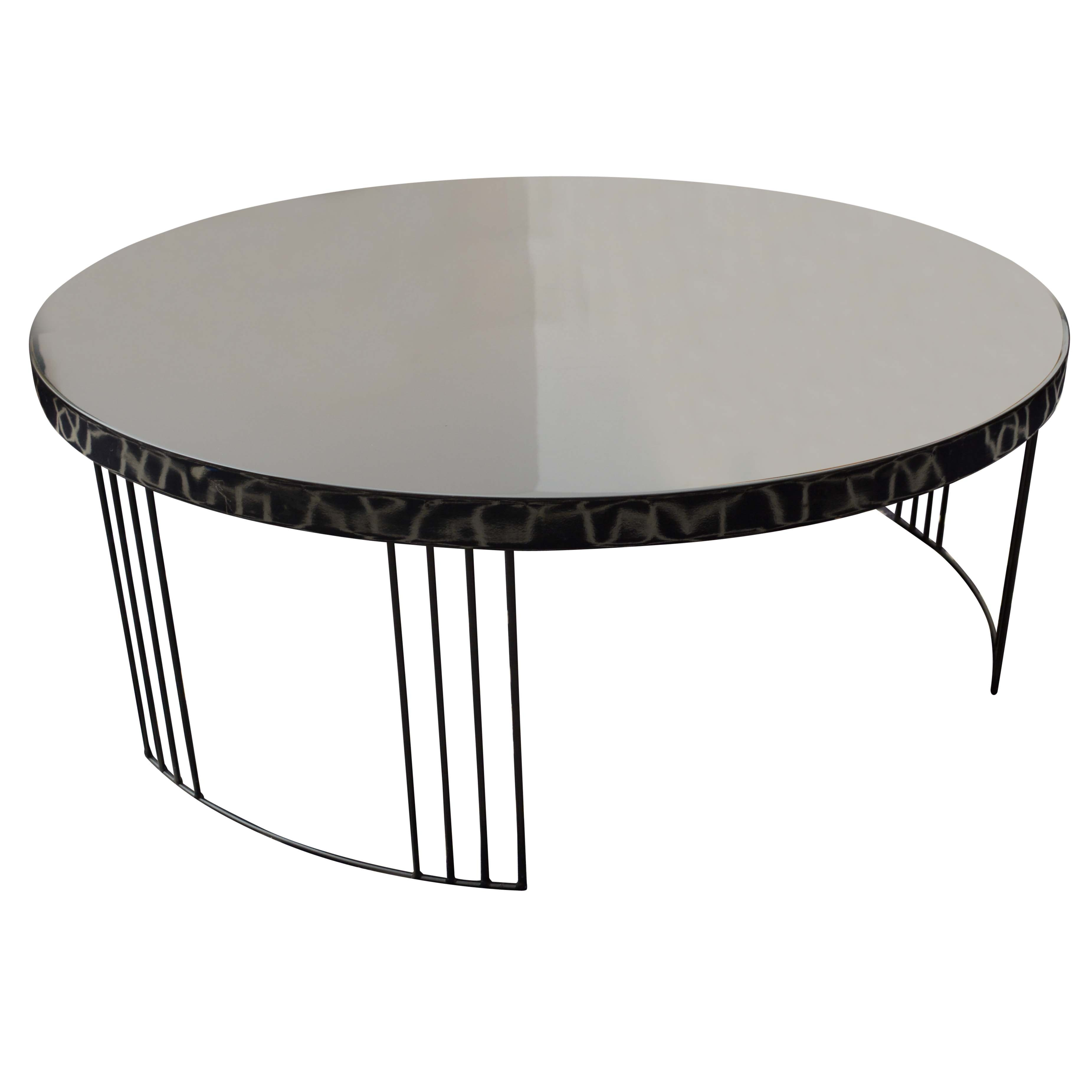 Black Lacquered Modern Style Coffee Table
