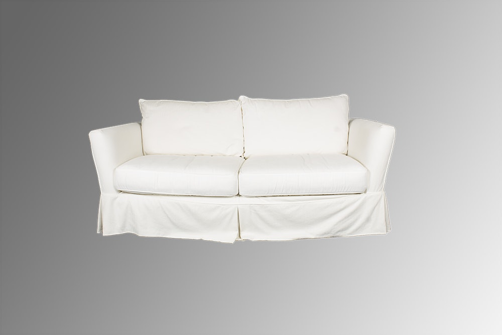 Lawson Style Cream Upholstered Sleeper Sofa