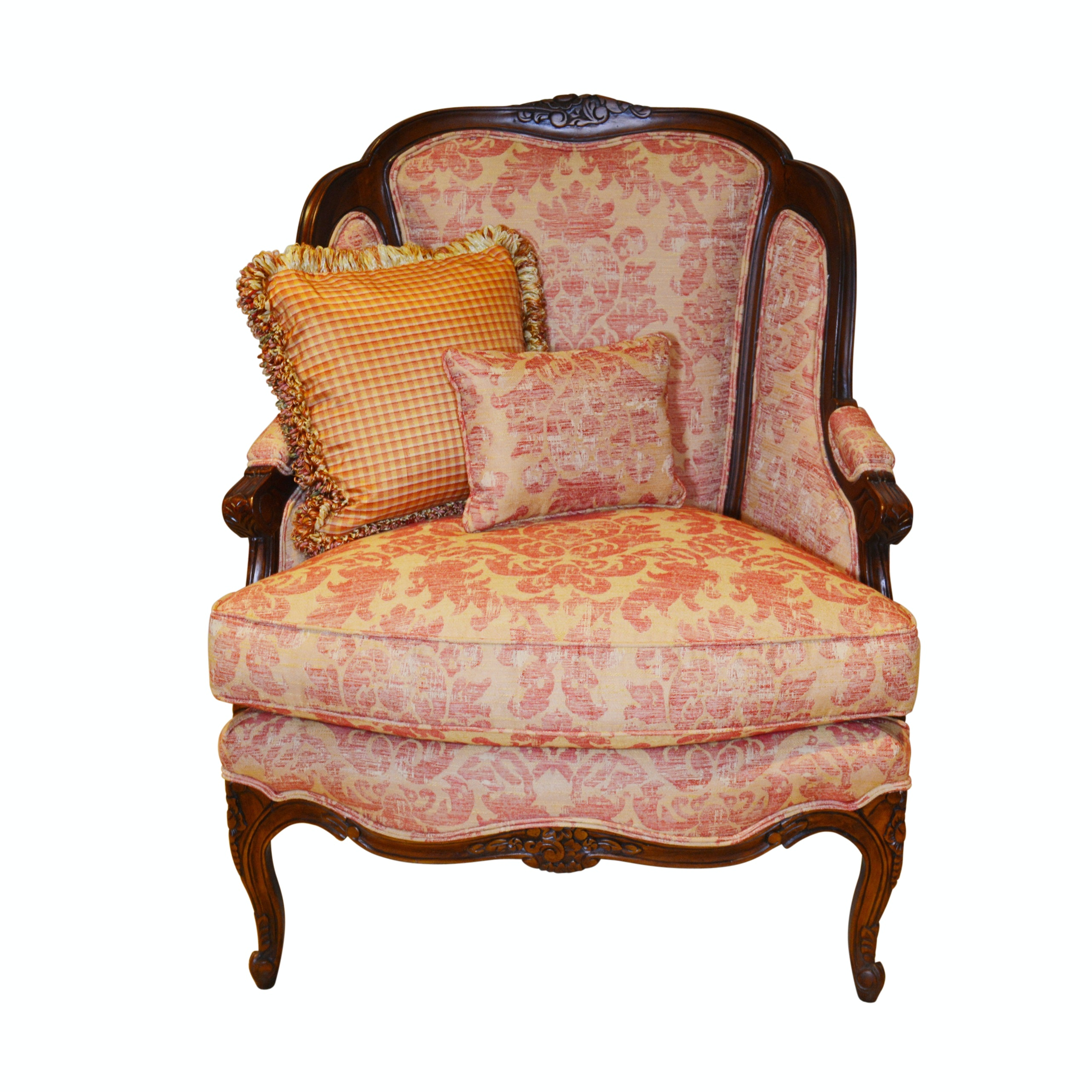 Hickory White Bergère Style Armchair