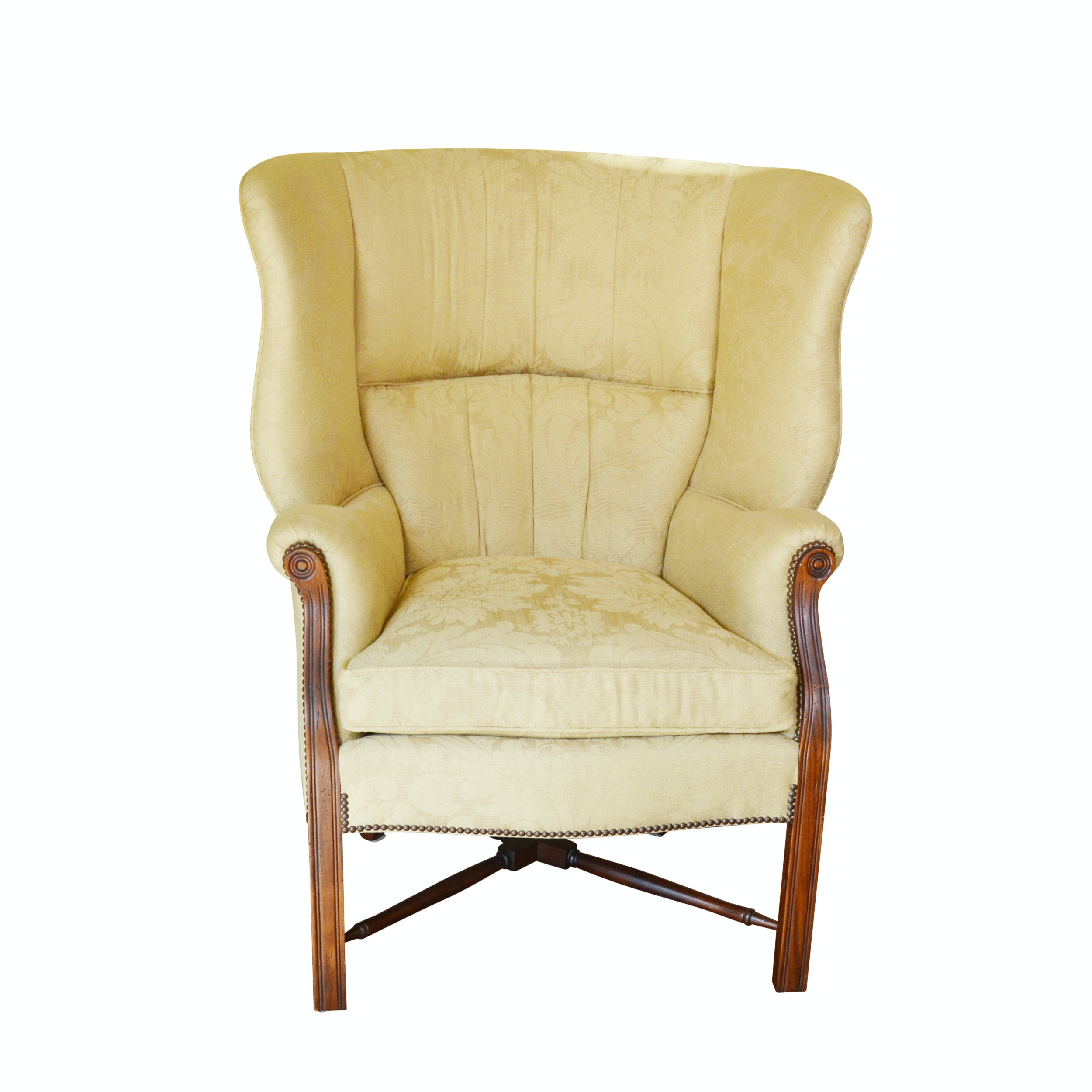 High Bow Back Wing Chair by TRS Furniture Inc.