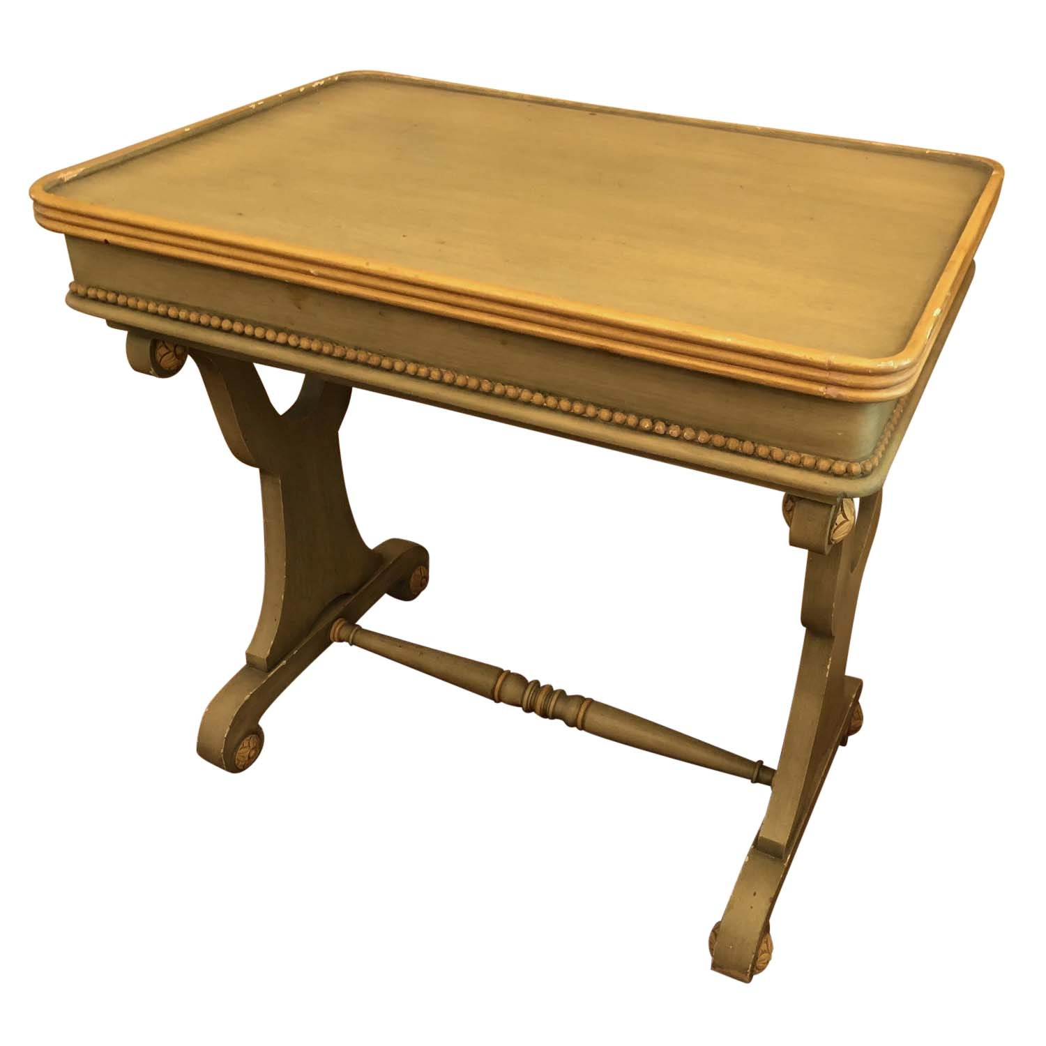 Neoclassical Style Painted Side Table