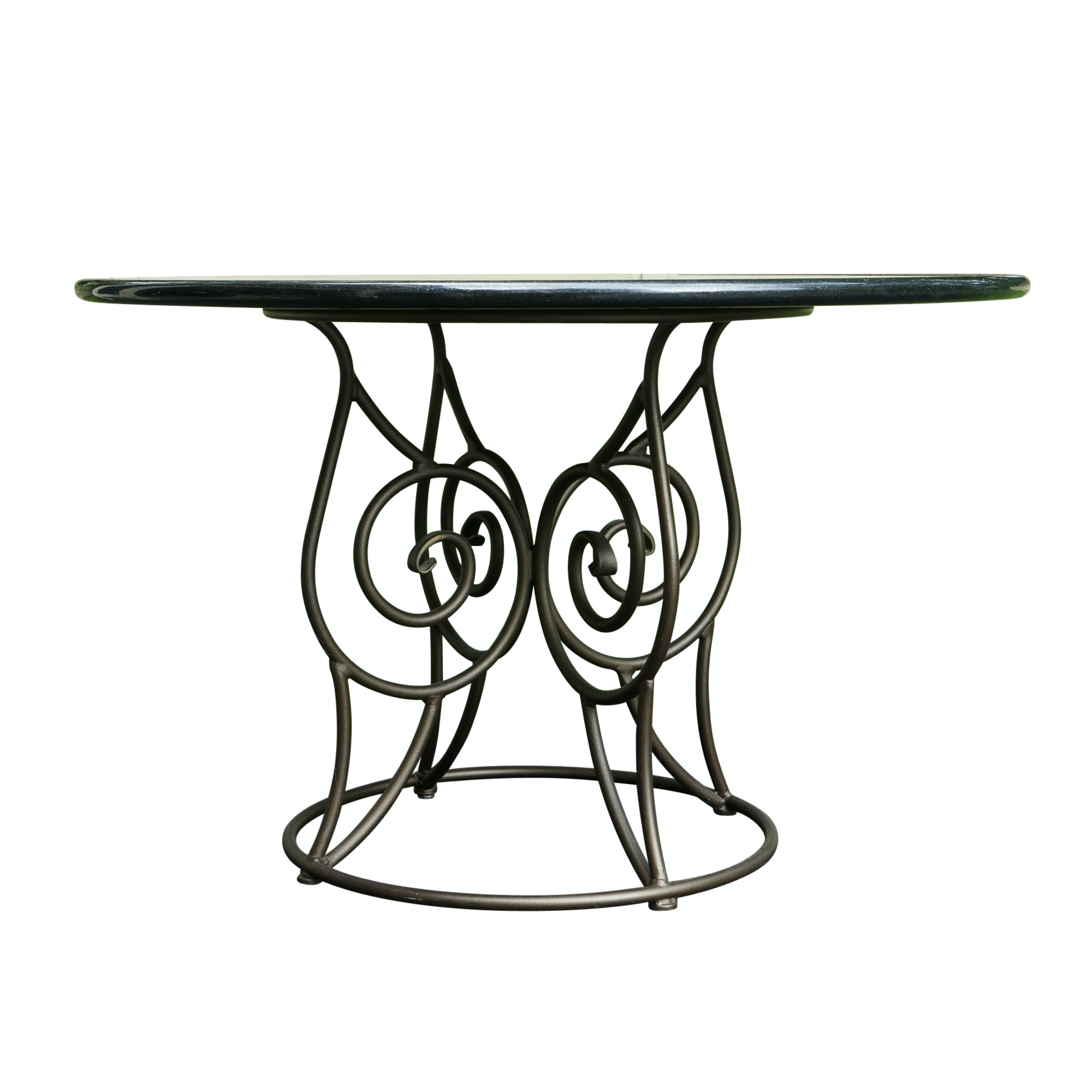 Granite Top Dining Table with Metal Frame