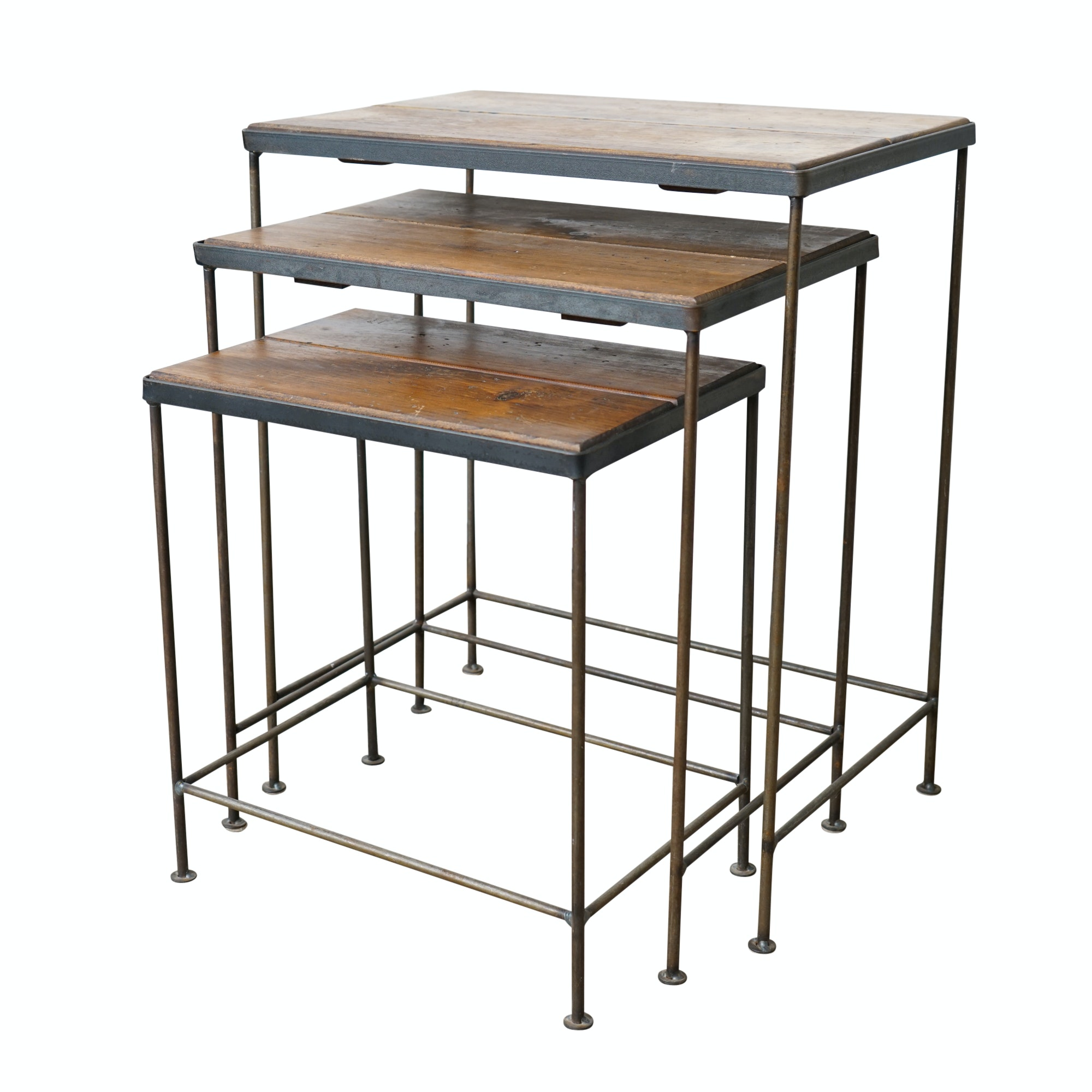 Wood and Metal Nesting Tables