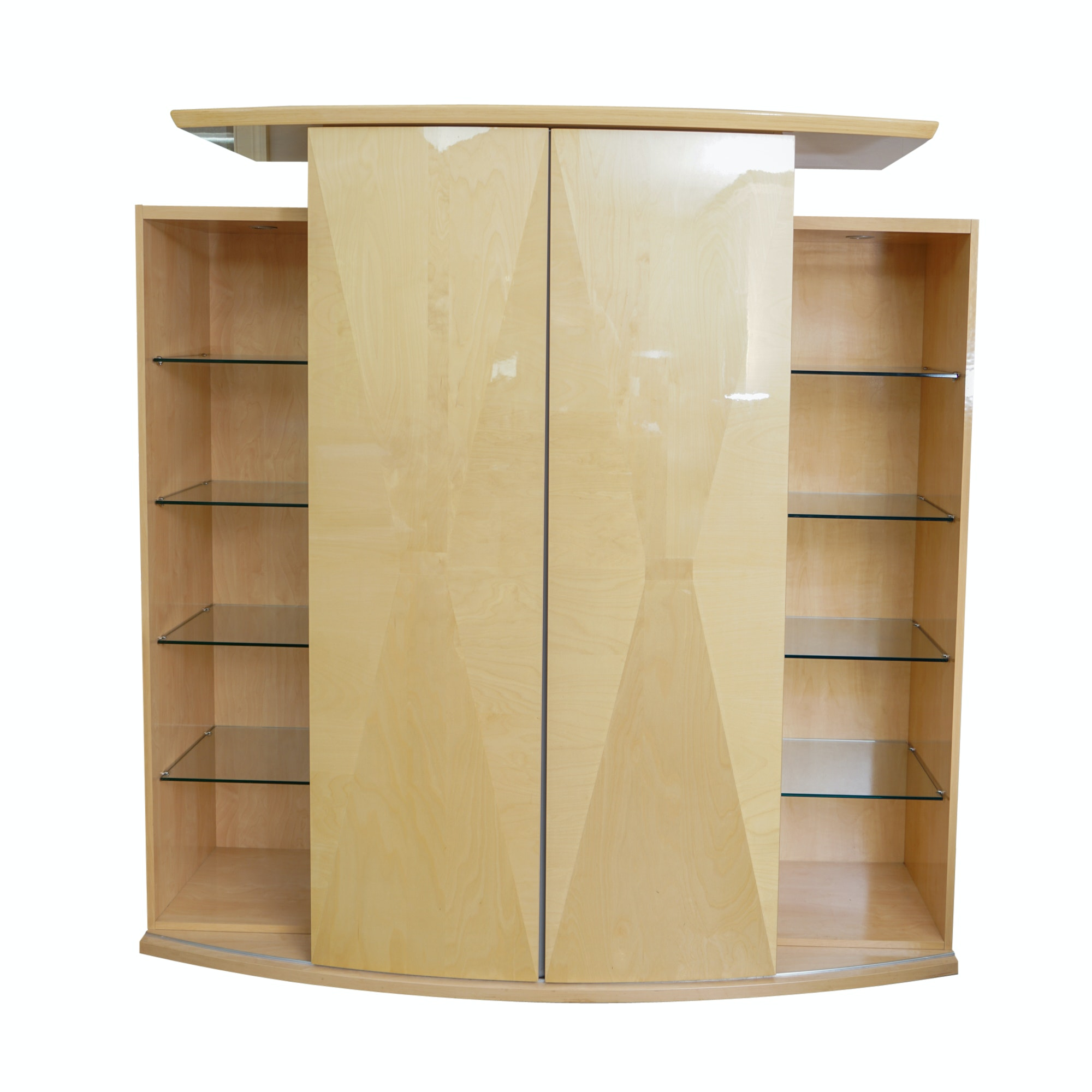 Contemporary Maple Laminate Entertainment Armoire