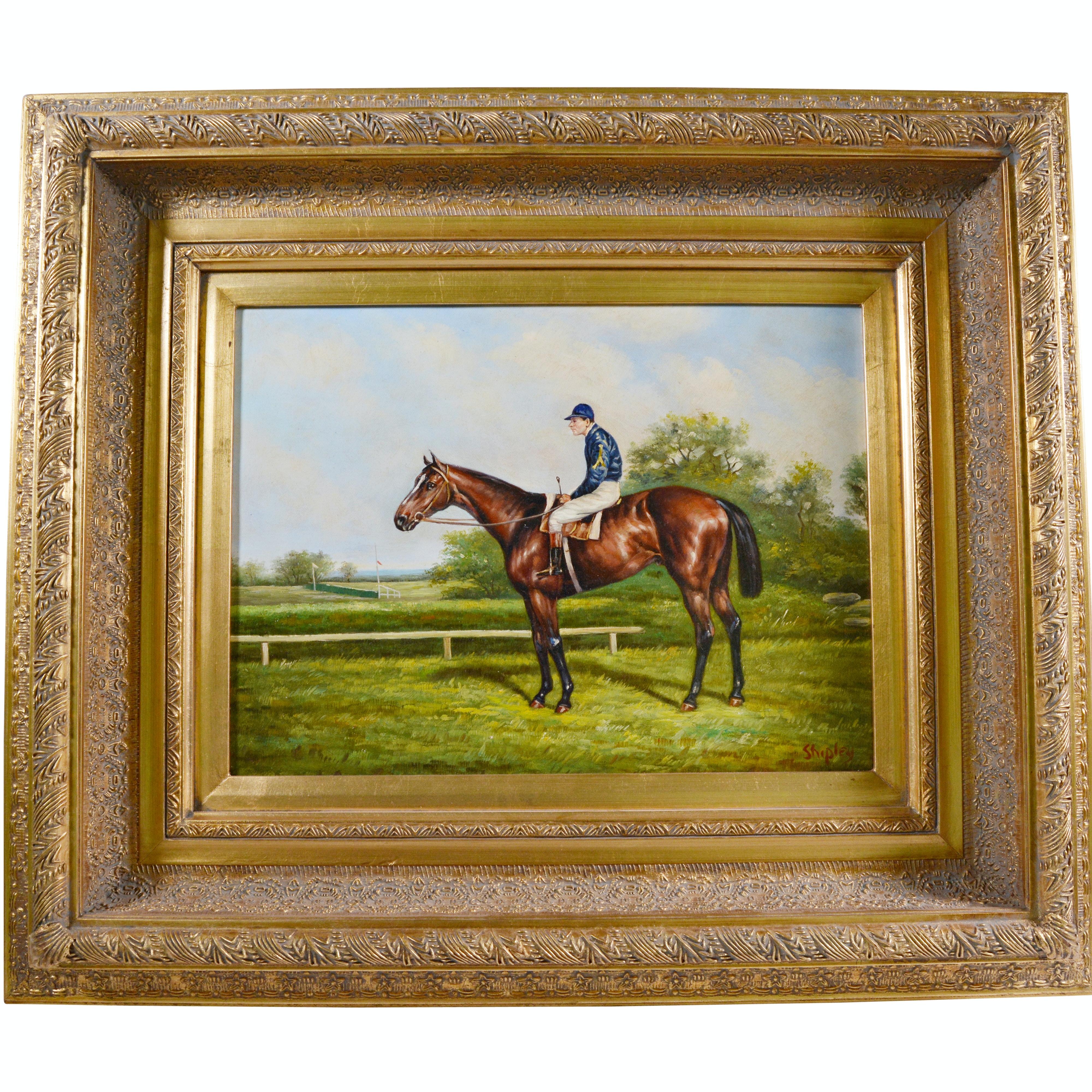 Shipley Oil Painting of Horse and Jockey