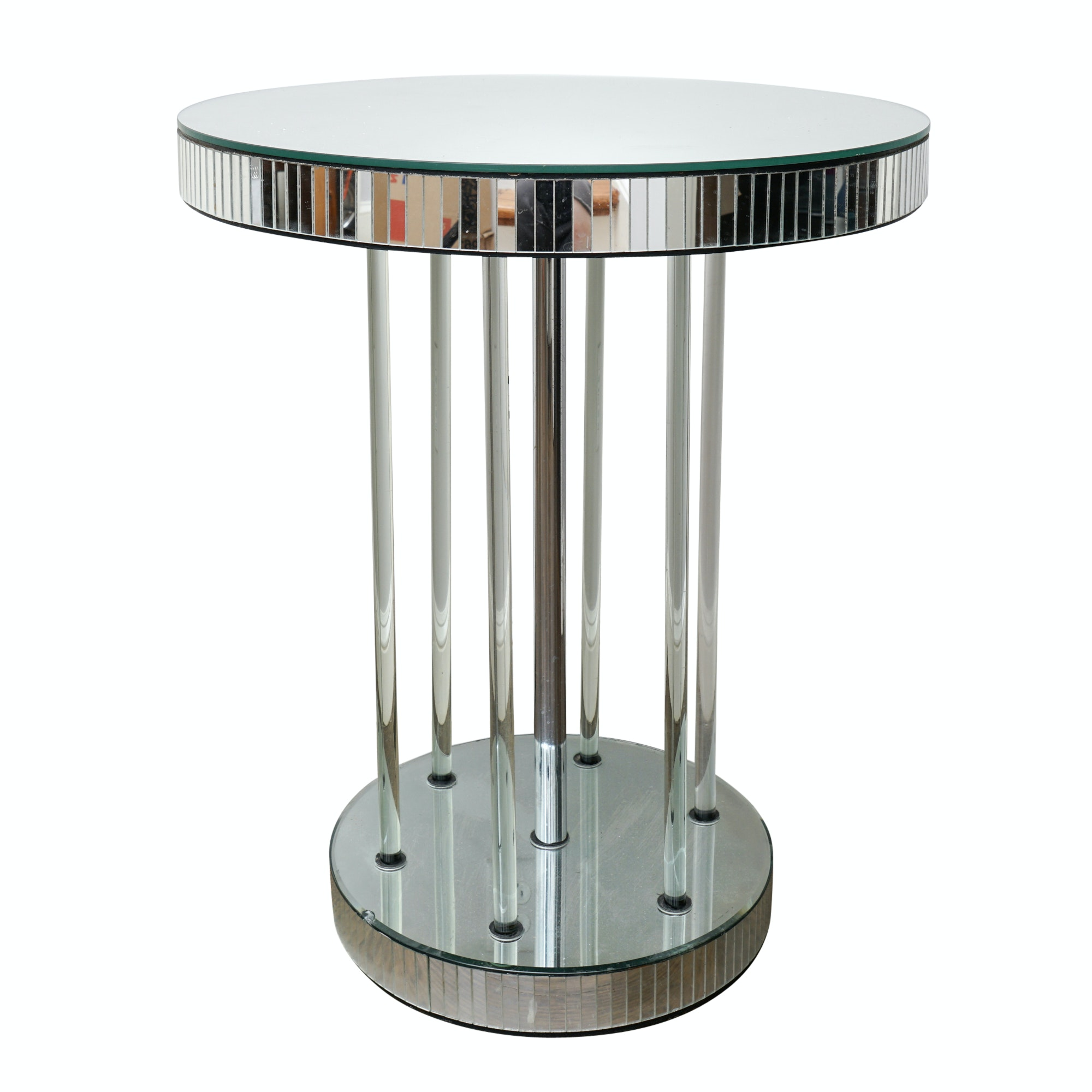 Mirrored Circular Accent Table