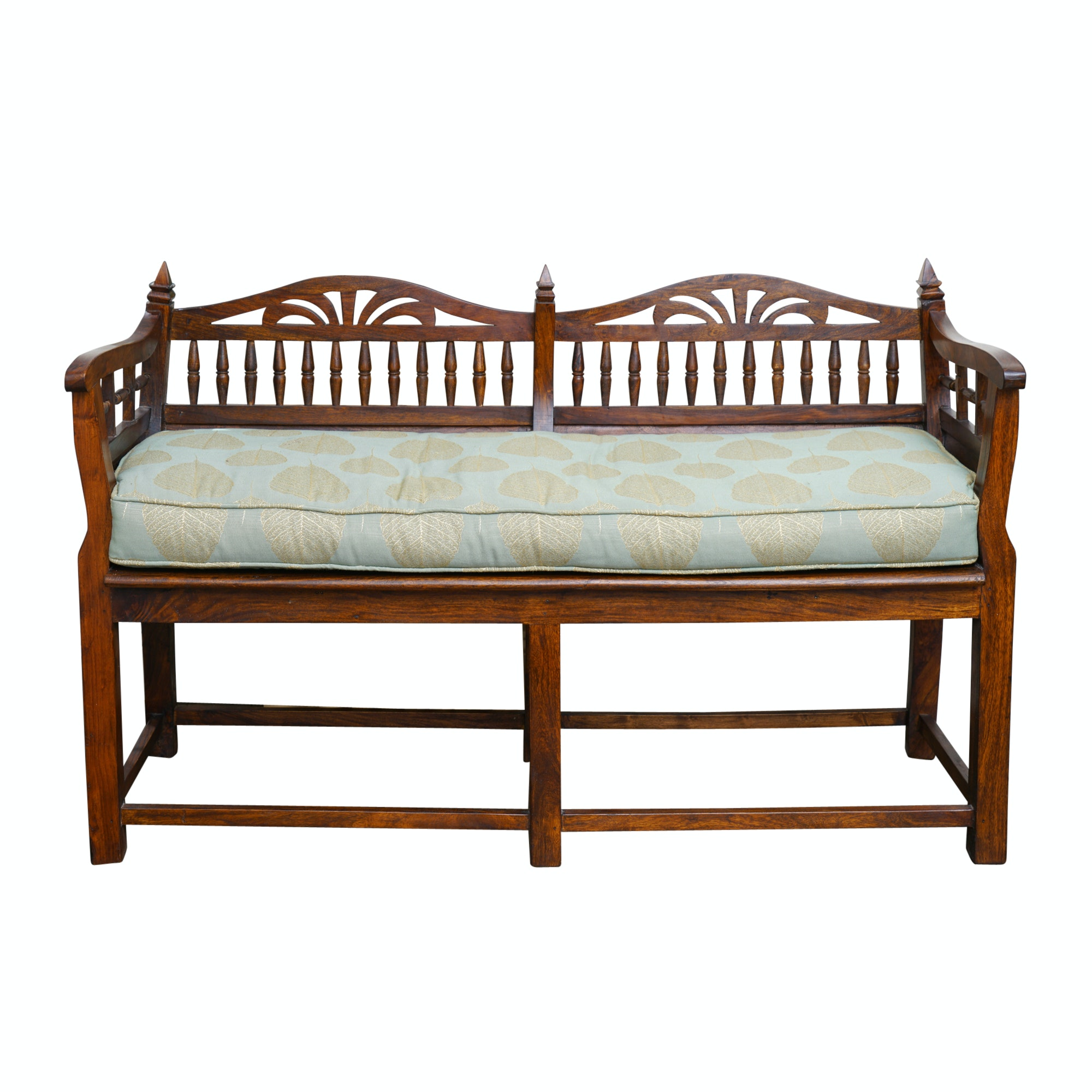 Wooden Spindle Back Settee