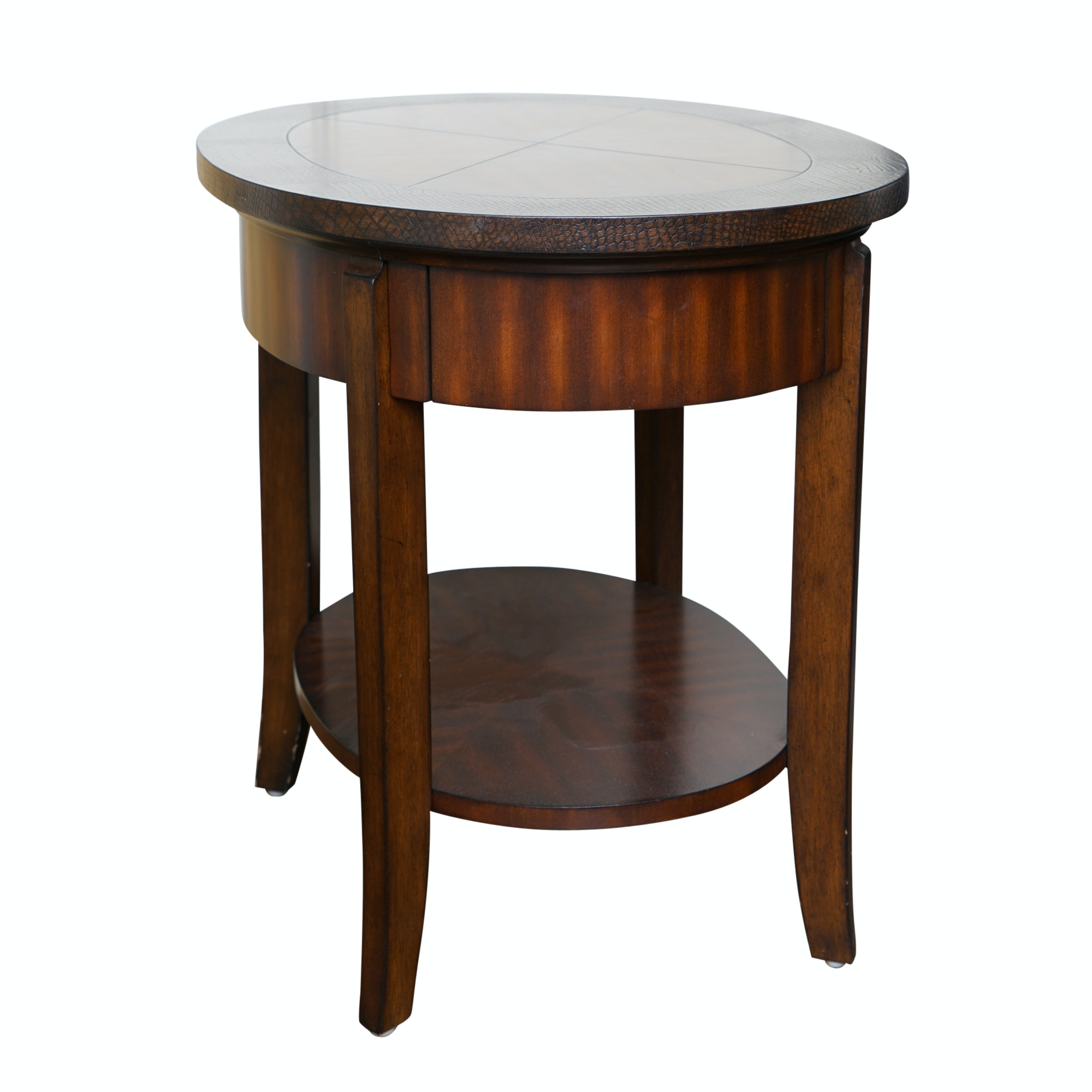 Oval Accent Table with Drawer