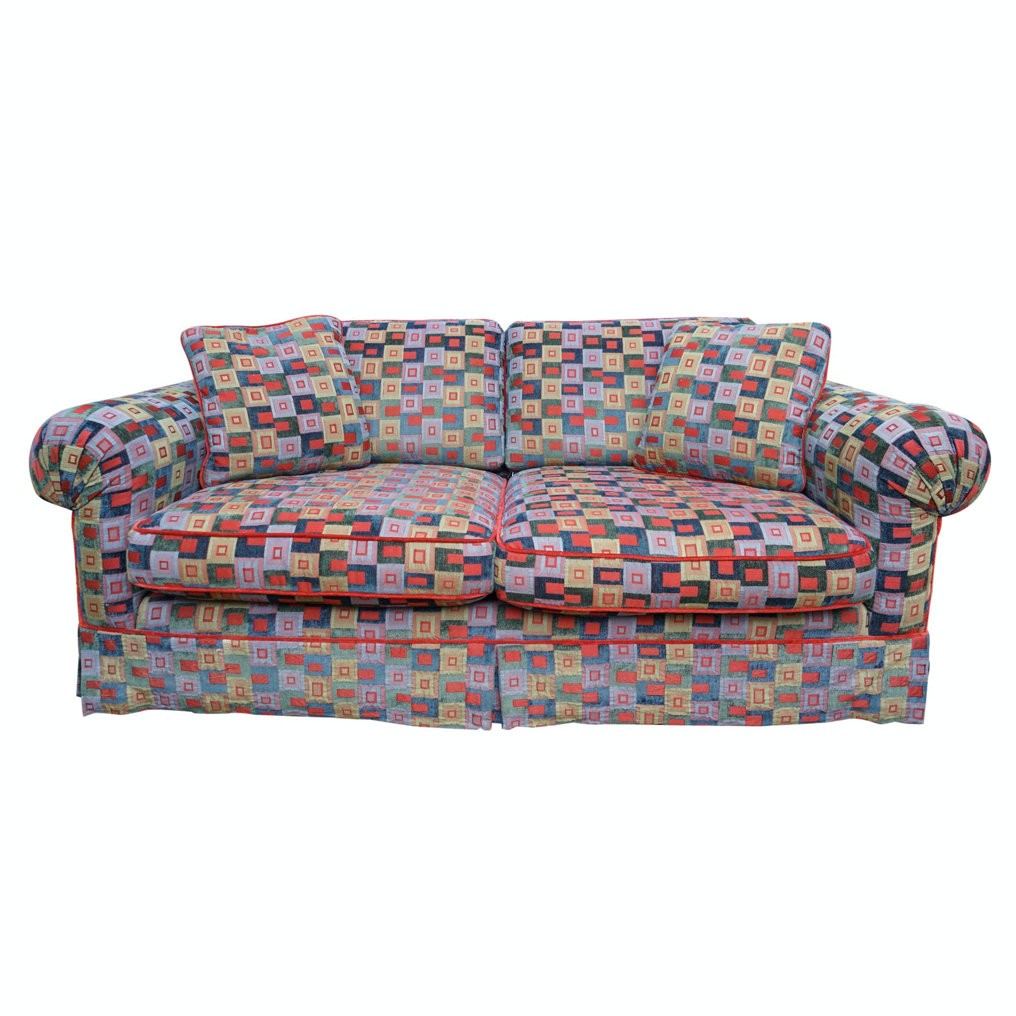 Bright Modern Checked Sofa