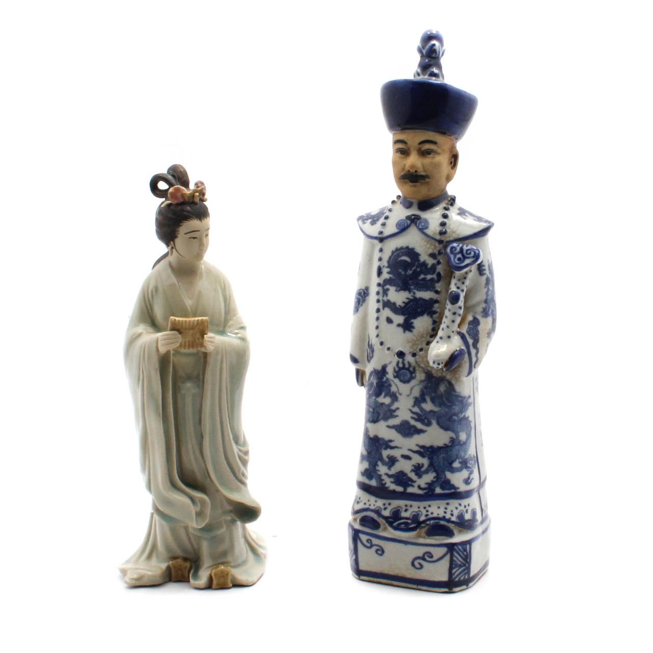 Vintage Chinese Ceramic Figurines