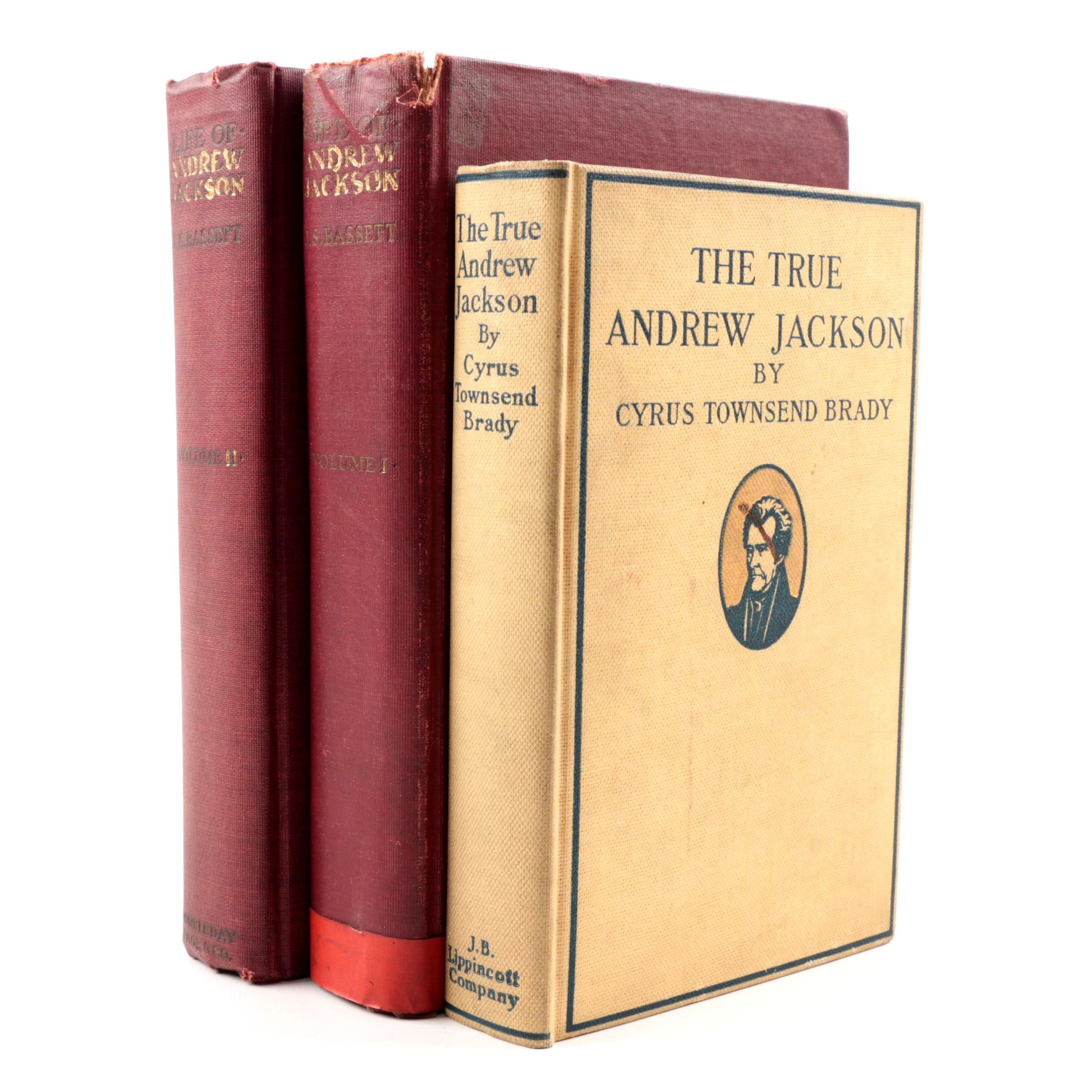 """1911 Volume I & II """"The Life of Andrew Jackson"""" by John Spencer Bassett and More"""