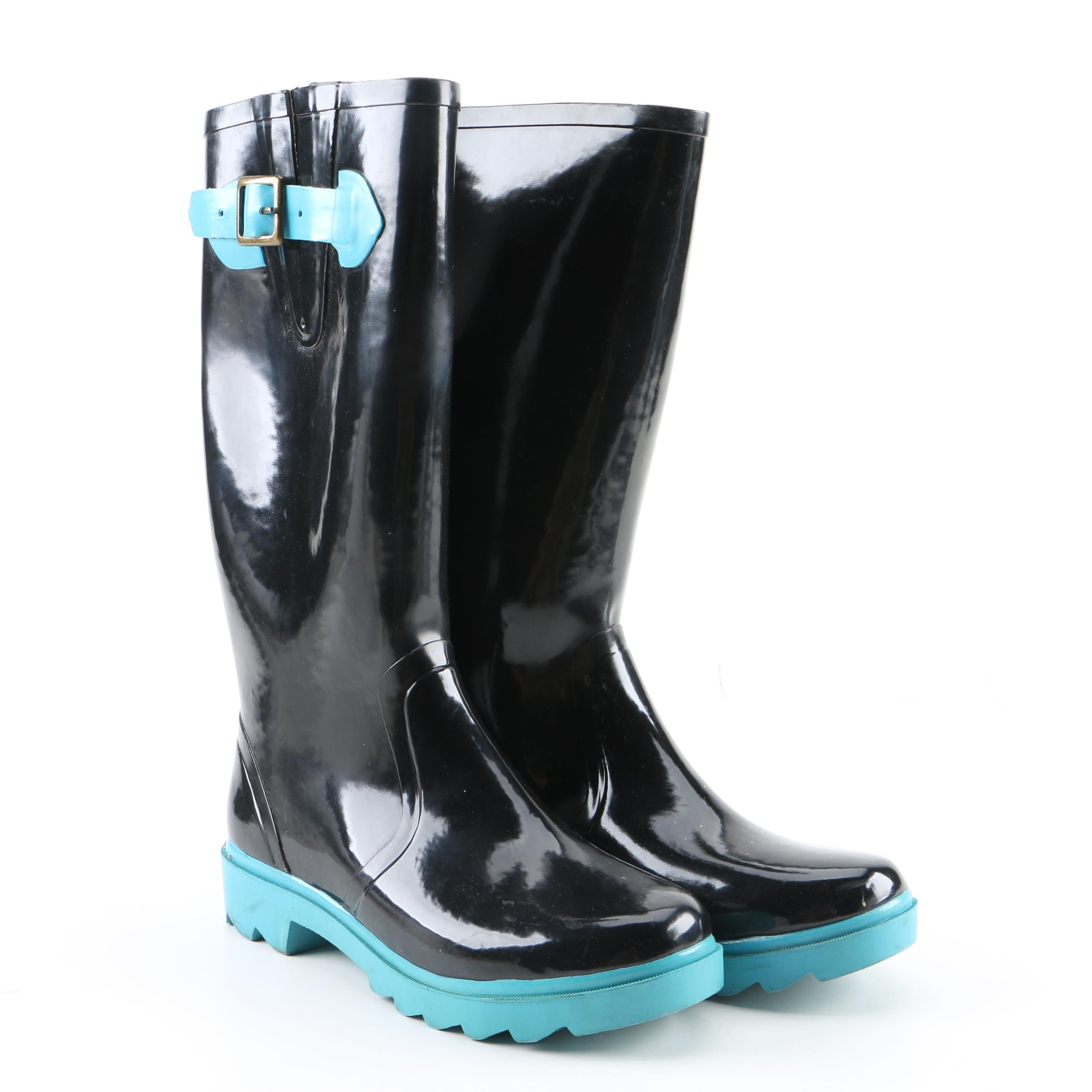 Women's Kate Spade New York Black Rubber Rain Boots