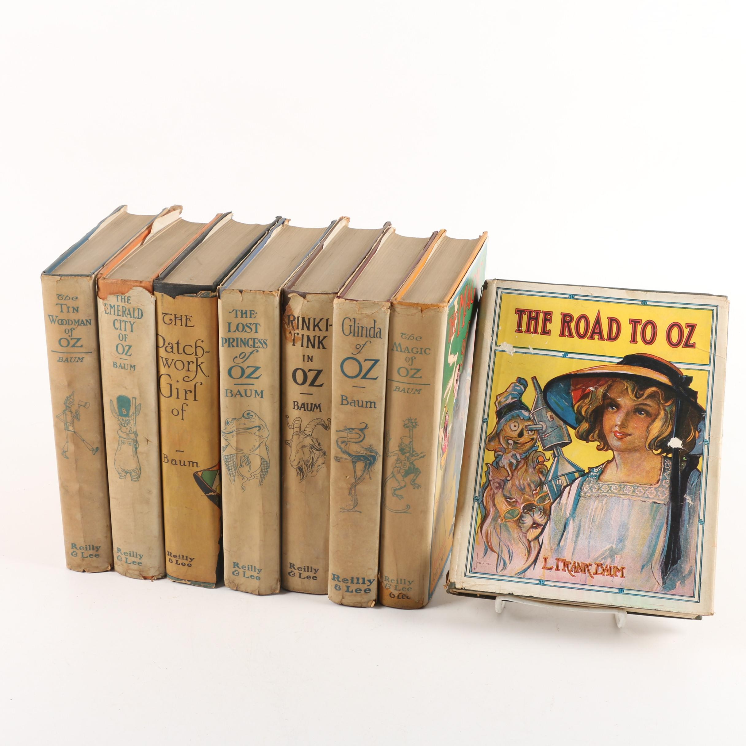 """Vintage """"Oz"""" Books by L. Frank Baum Including """"The Road to Oz"""""""